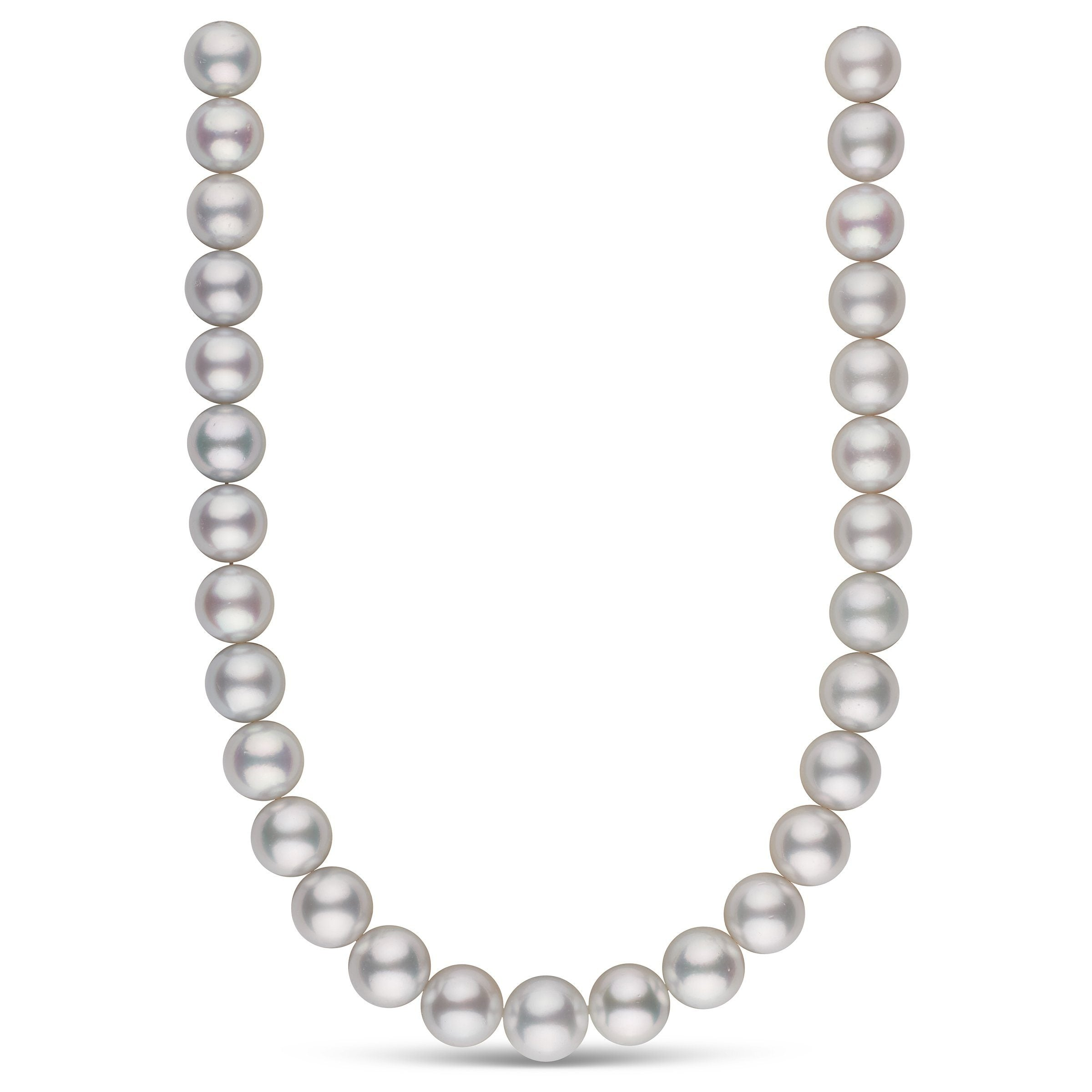 14.0-15.7 mm AA+/AAA White South Sea Round Pearl Necklace