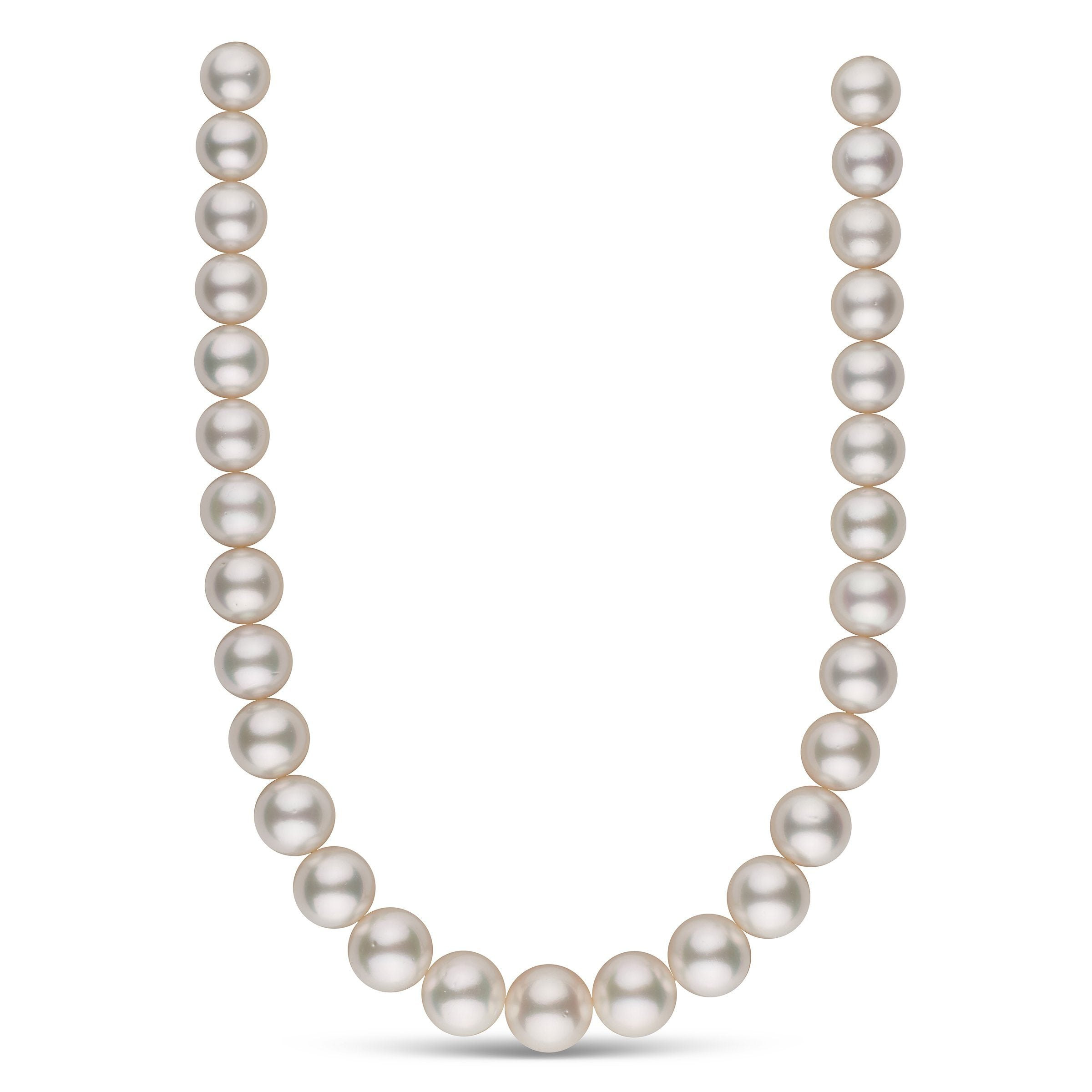 13.0-16.2 mm AA+ White South Sea Round Pearl Necklace