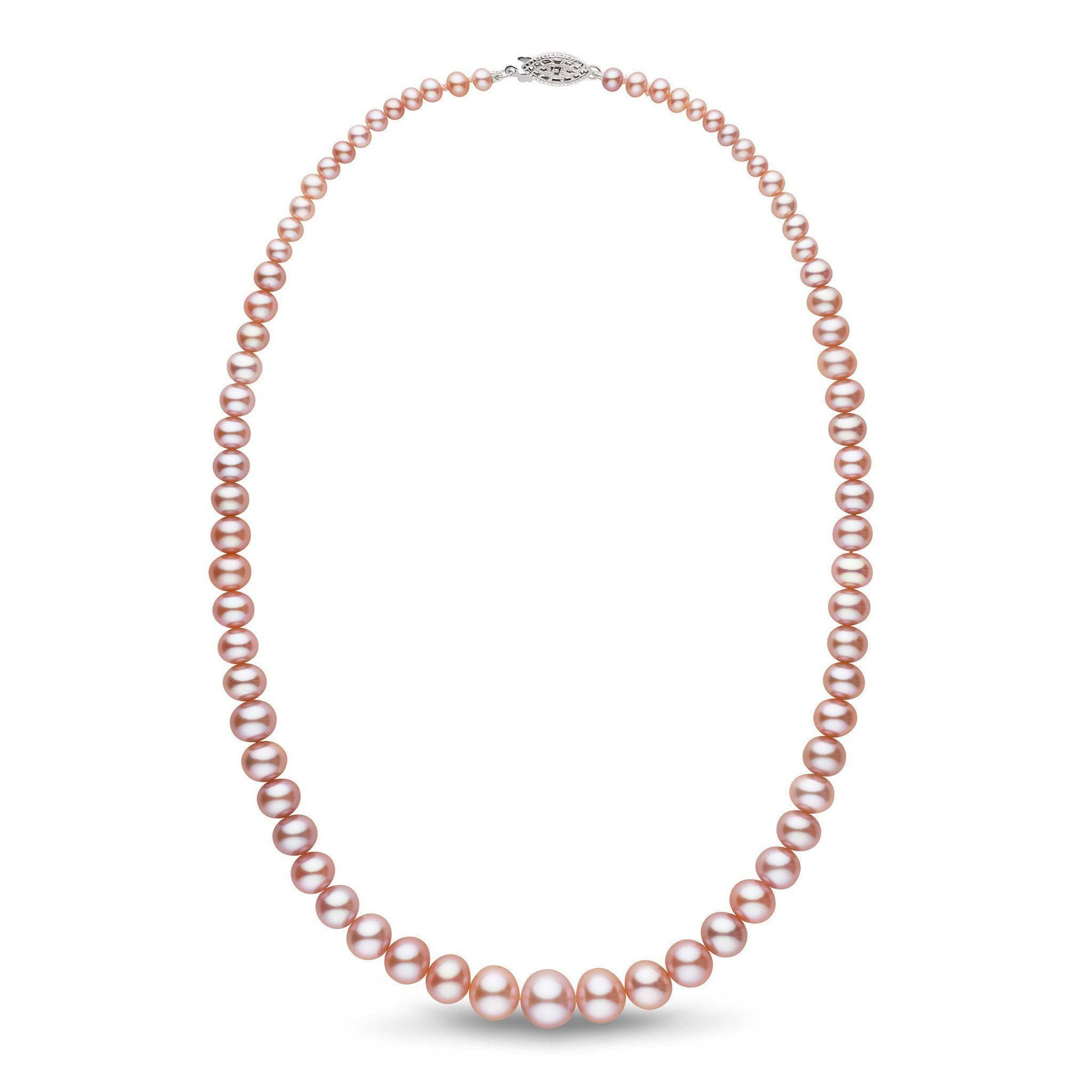 pink mm products aa freshwater necklace strand multicolor double pearl