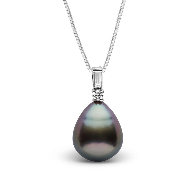 Adore Collection Drop 10.0-11.0 mm Tahitian Pearl and Diamond Pendant
