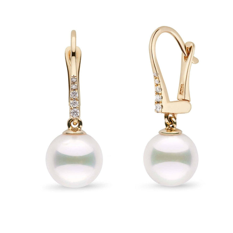 Allure Collection Akoya 9.0-9.5 mm Pearl & Diamond Dangle Earrings