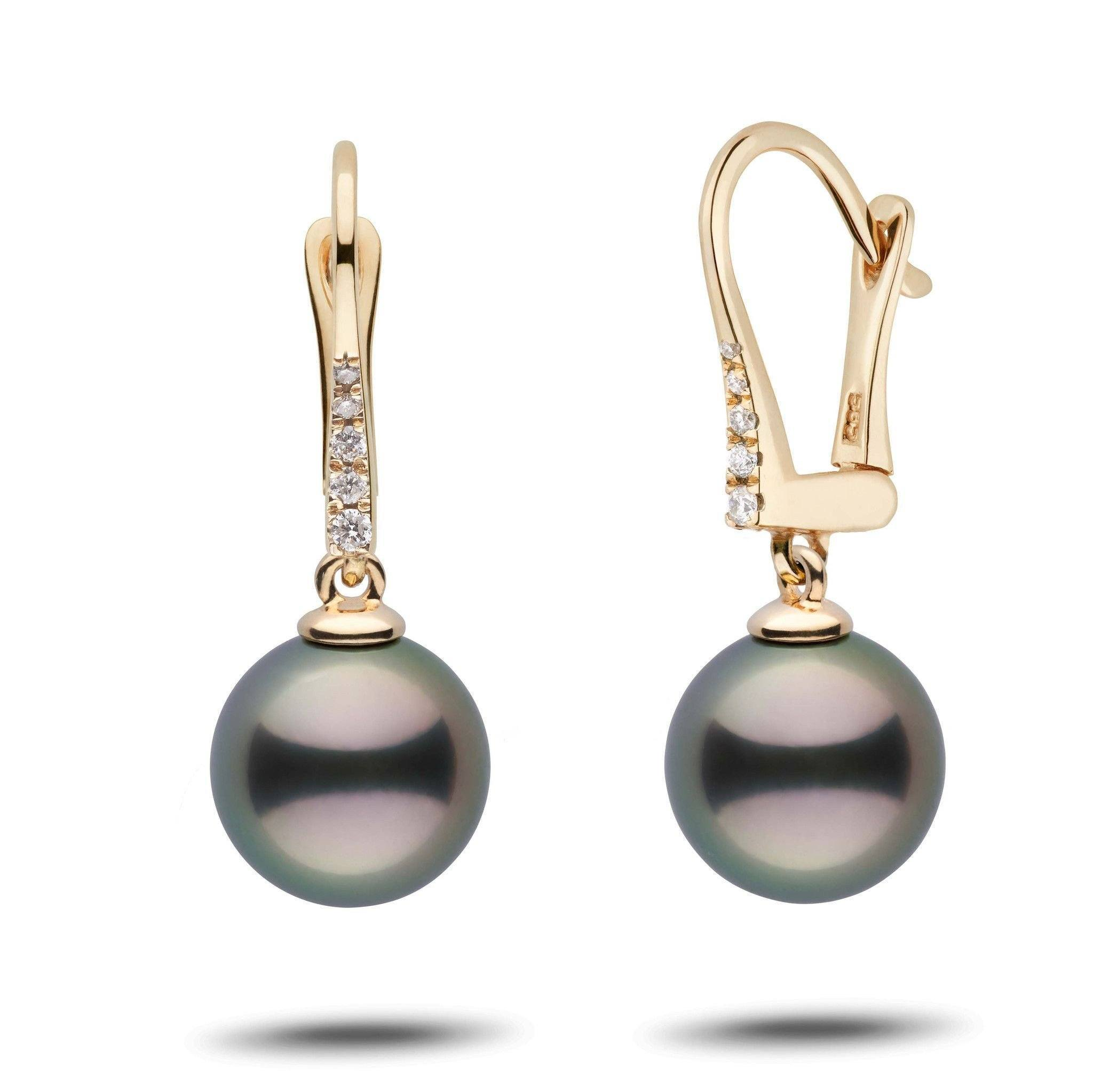 Allure Collection Tahitian 10.0-11.0 mm Pearl & Diamond Dangle Earrings
