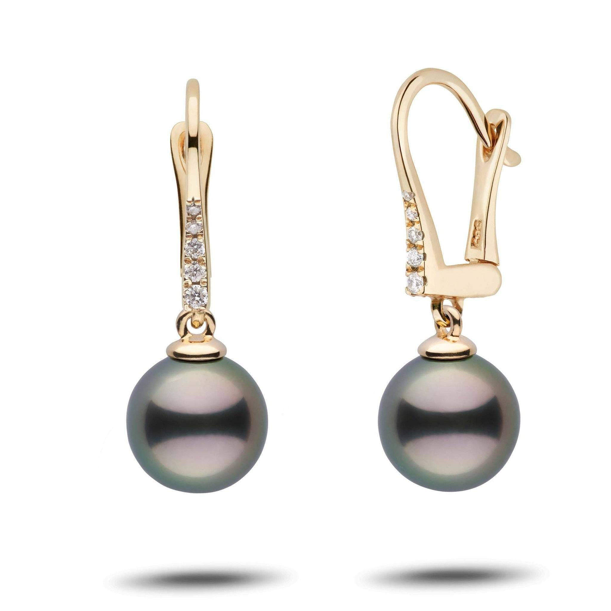 Allure Collection Tahitian 9.0-10.0 mm Pearl & Diamond Dangle Earrings