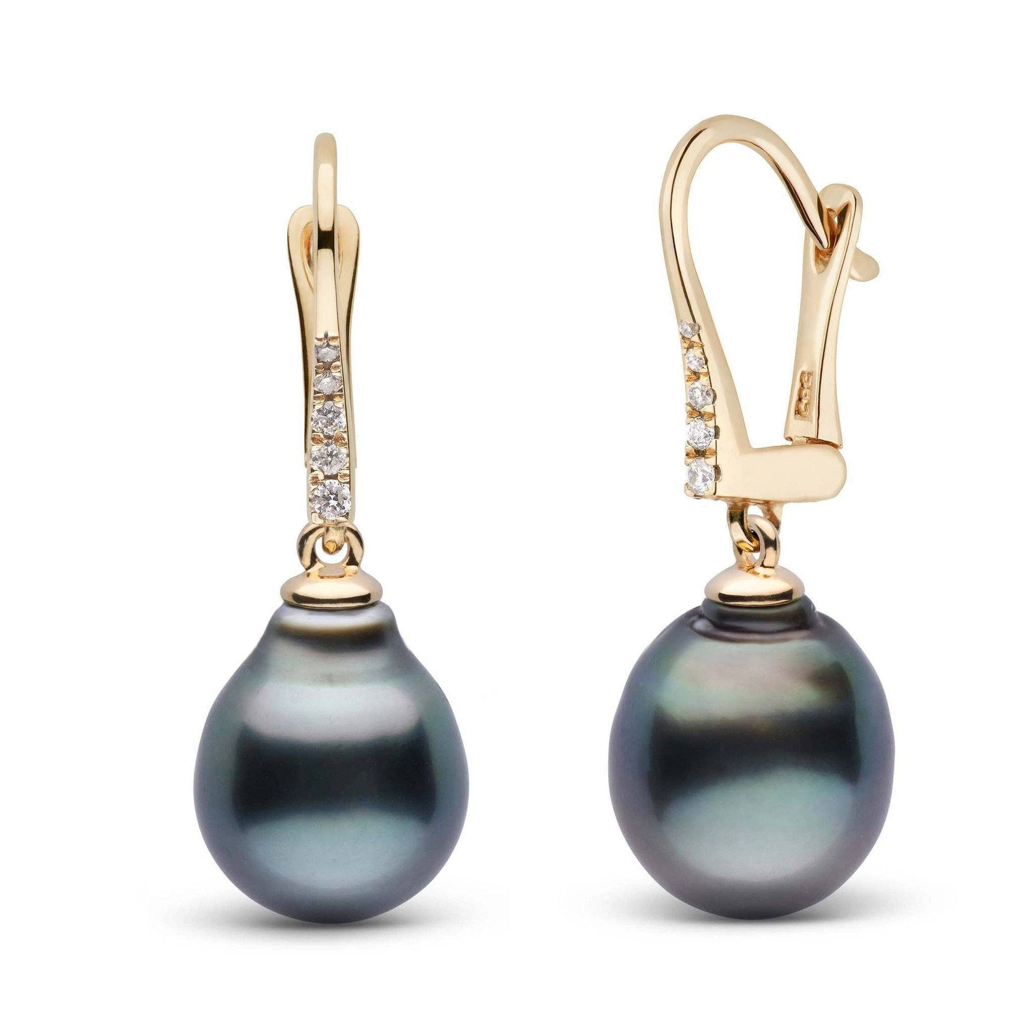 Allure Collection Tahitian Baroque 11.0-12.0 mm Pearl & Diamond Dangle Earrings