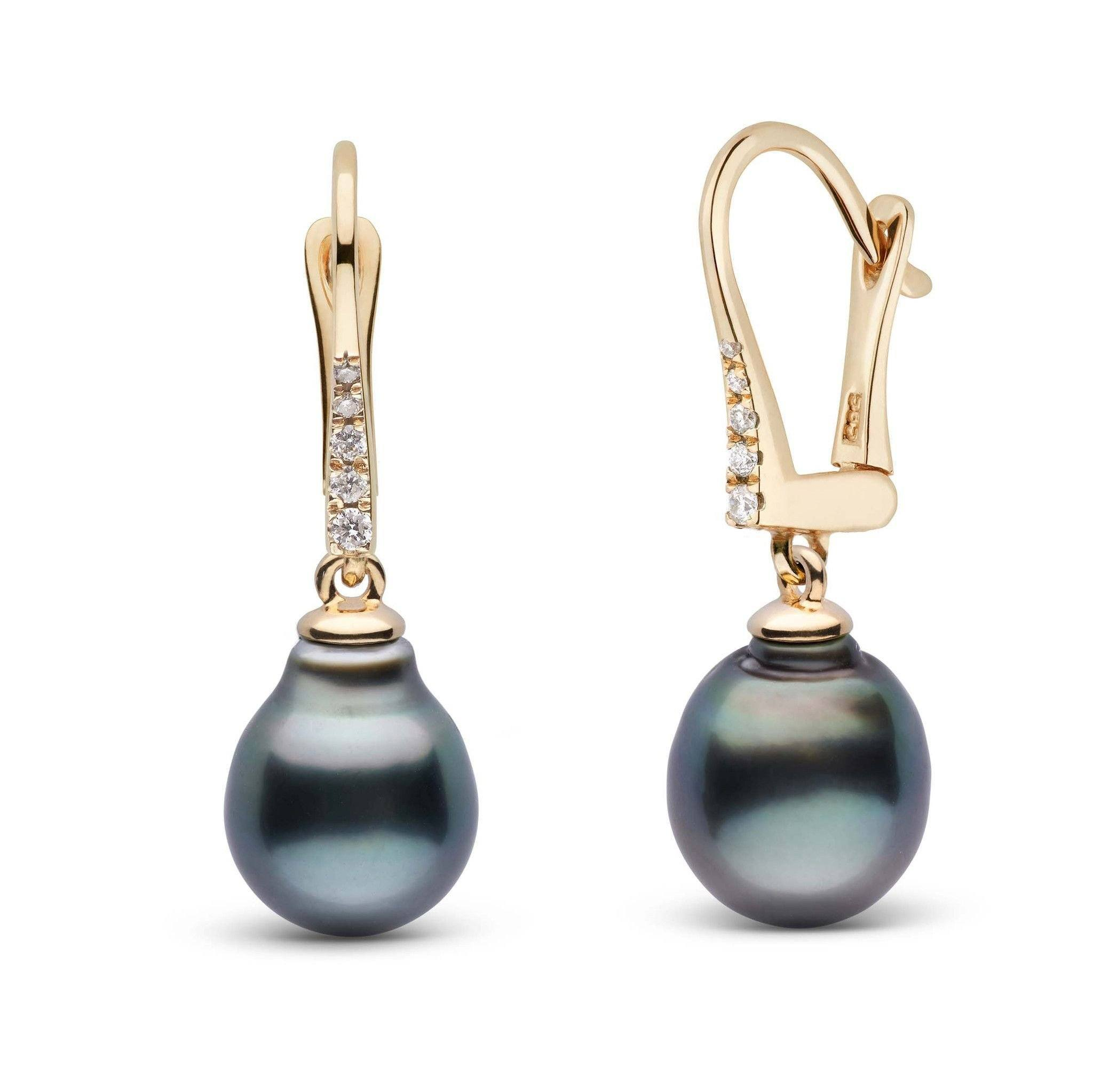 Allure Collection Tahitian Baroque 9.0-10.0 mm Pearl & Diamond Dangle Earrings