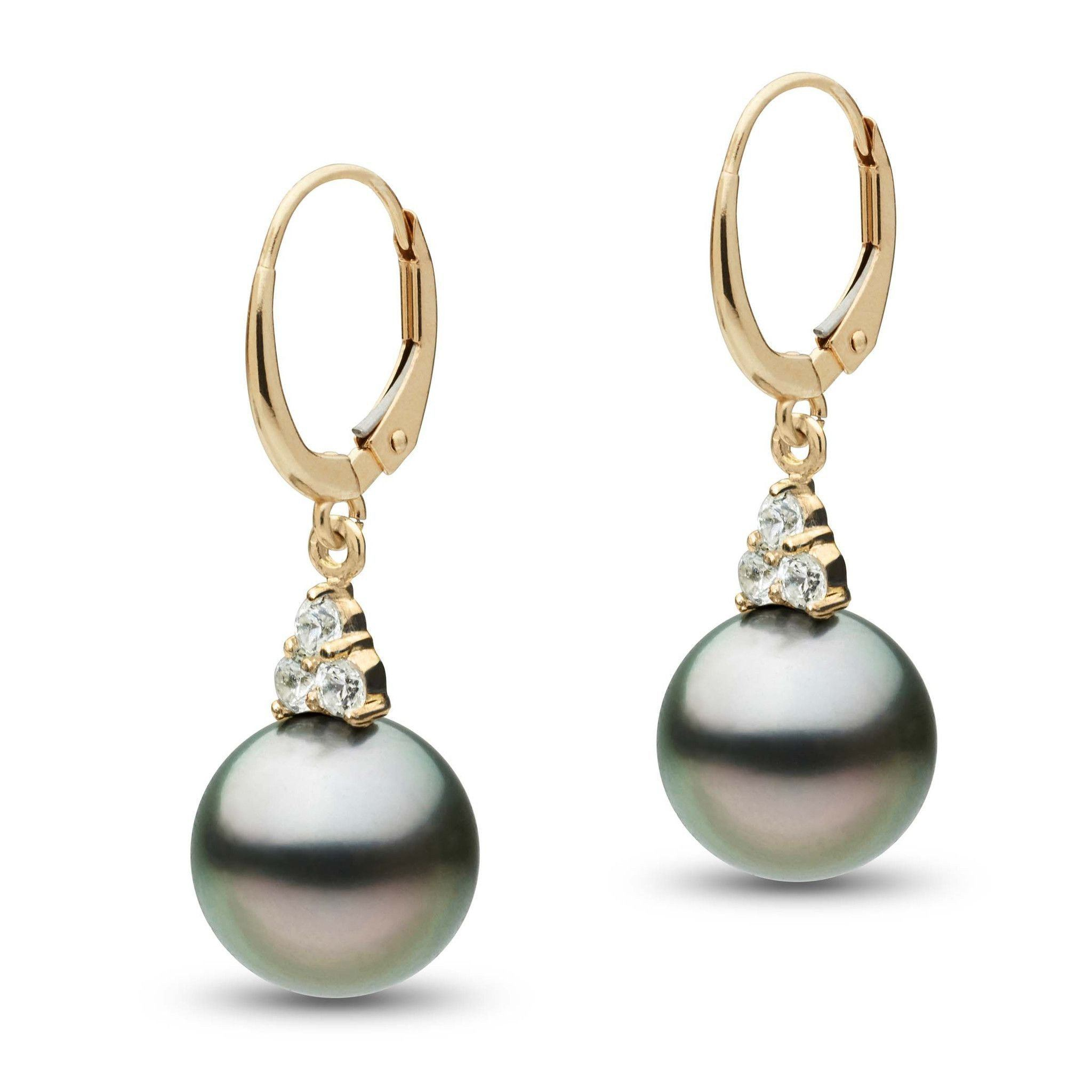 Always Collection Tahitian 10.0-11.0 mm Pearl and Diamond Earrings