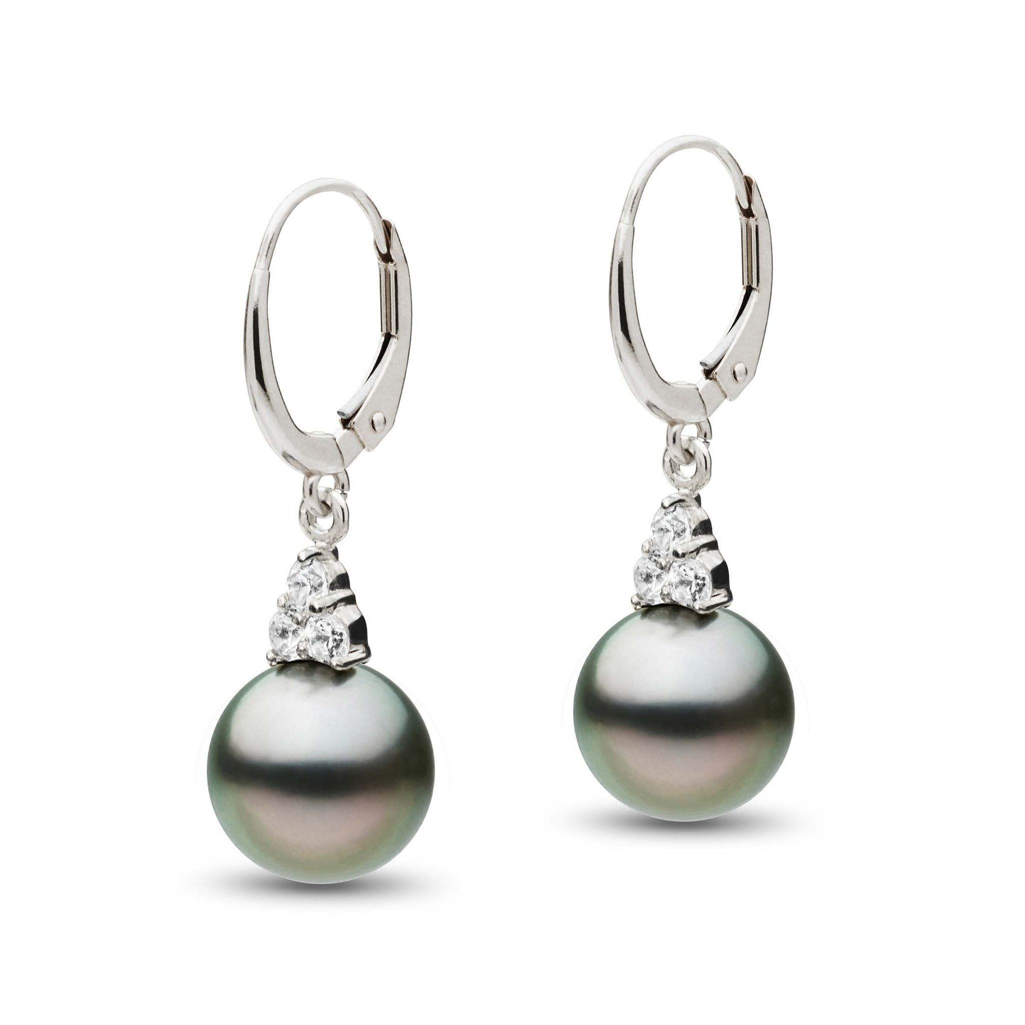 Always Collection Tahitian 9.0-10.0 mm Pearl and Diamond Earrings