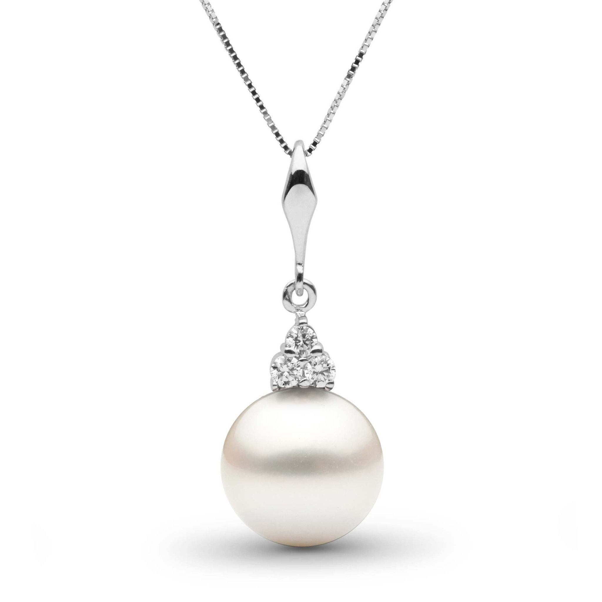Always Collection White 10.0-11.0 mm South Sea Pearl and Diamond Pendant