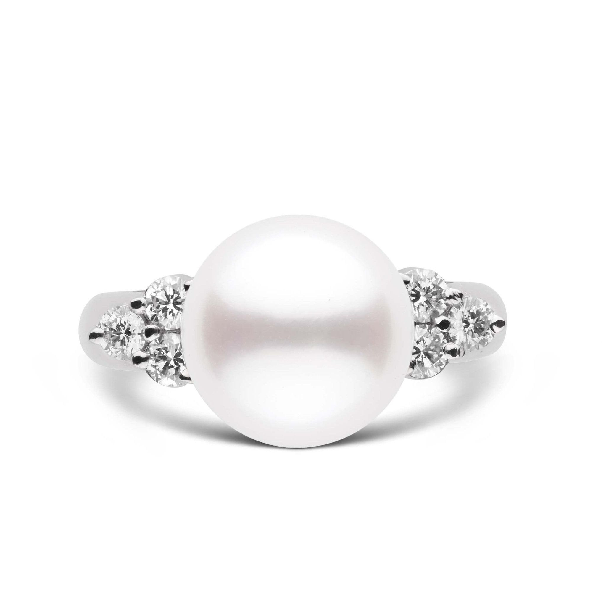 Always Collection White 10.0-11.0 mm South Sea Pearl Ring 18K