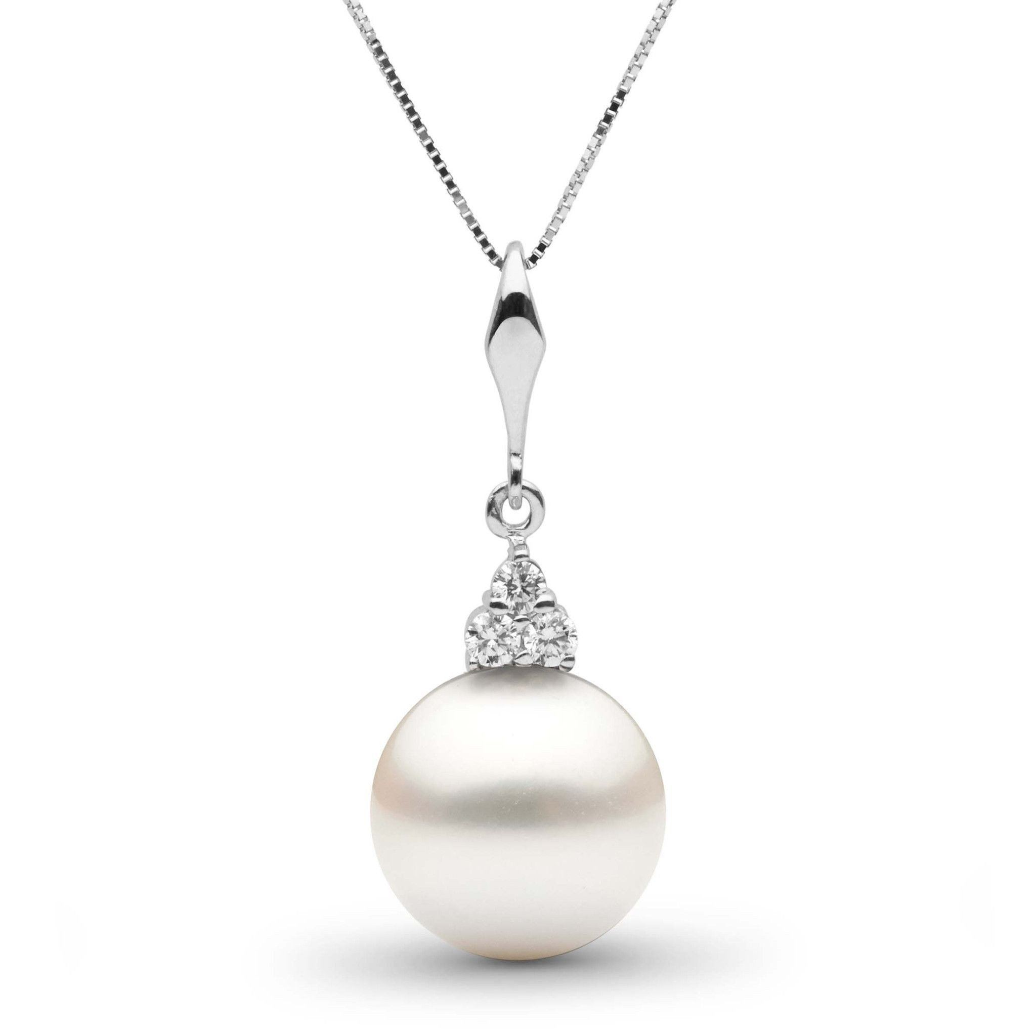 Always Collection White 11.0-12.0 mm South Sea Pearl and Diamond Pendant