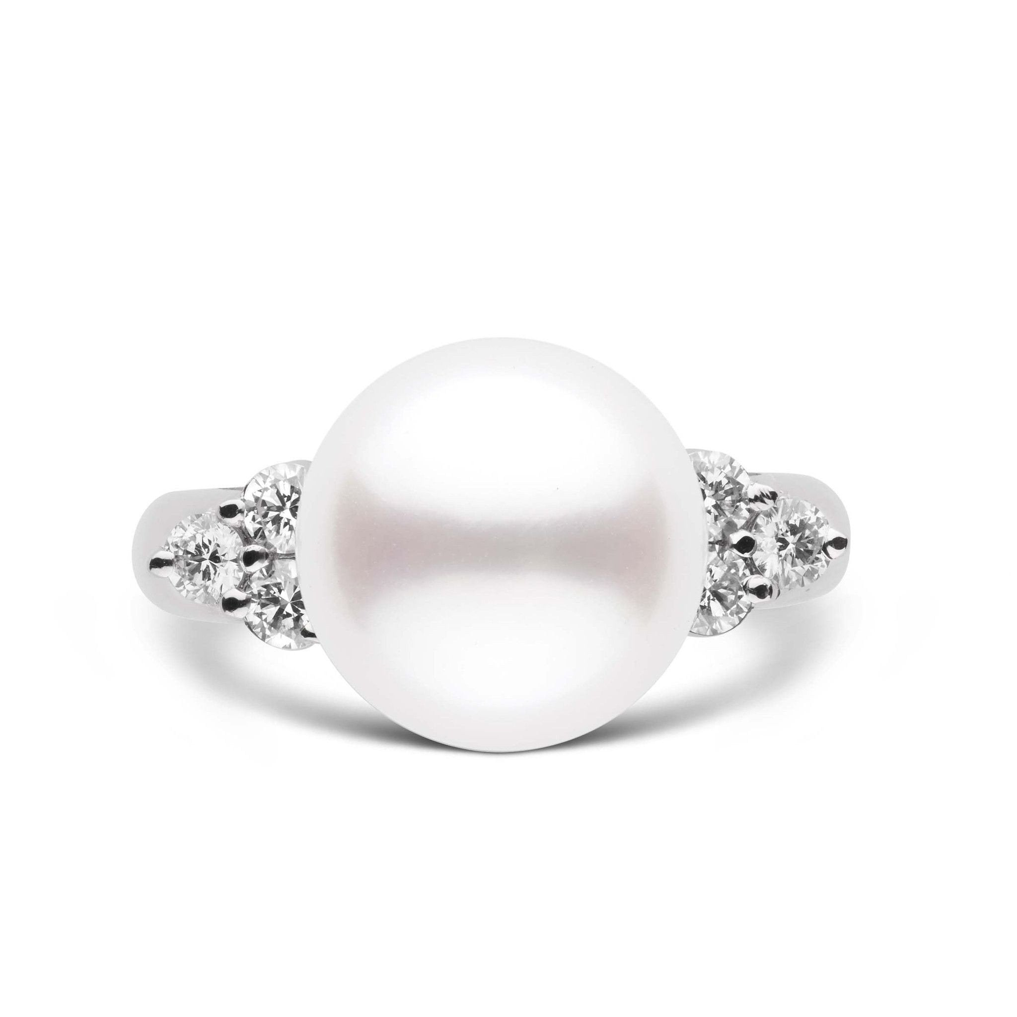 Always Collection White 11.0-12.0 mm South Sea Pearl Ring 18K