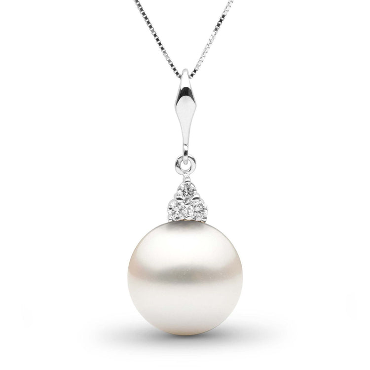 Always Collection White 12.0-13.0 mm South Sea Pearl and Diamond Pendant