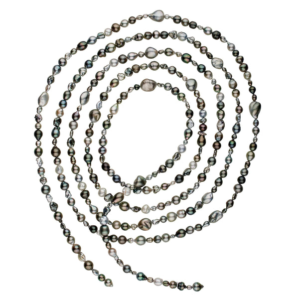 Andy Müller Endless Rope Tahitian Baroque Pearl Necklace - 120 inches