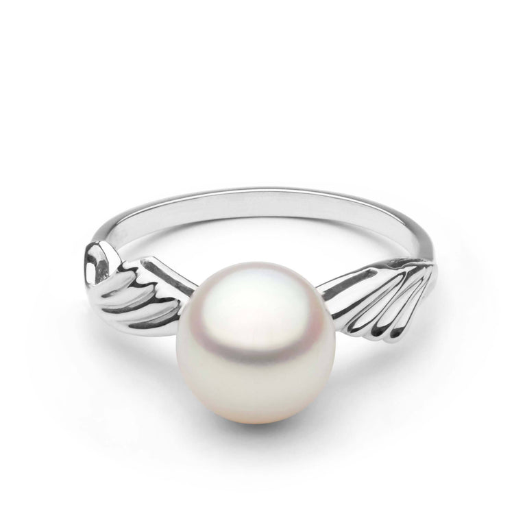Ascend Collection Akoya Pearl Ring in Sterling Silver