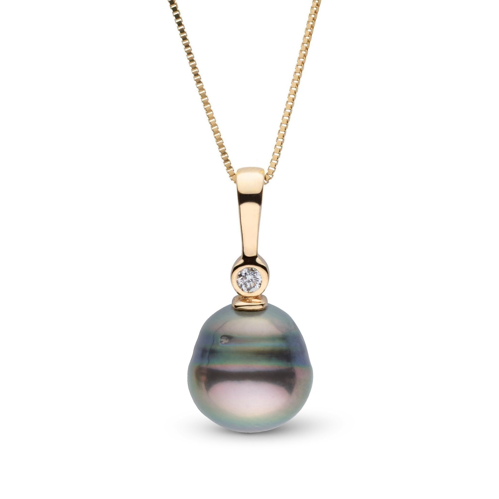 Aspire Collection 8.0-9.0 mm Baroque Tahitian Pearl & Diamond Pendant