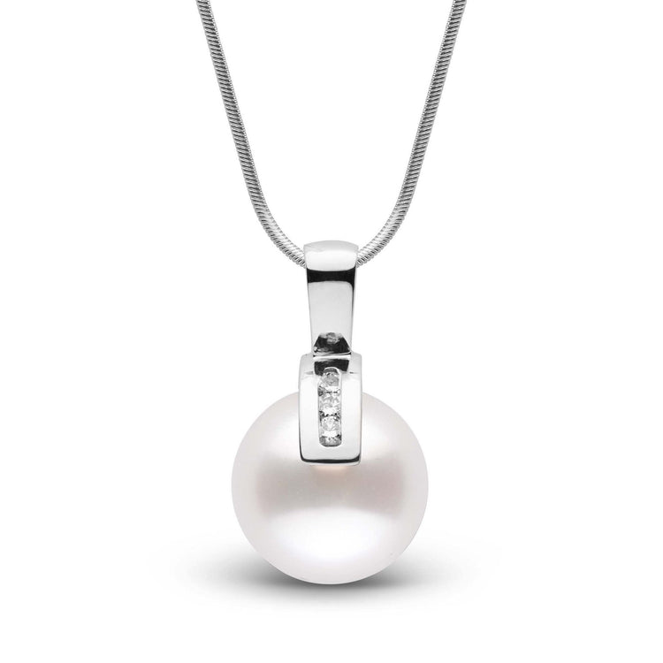 Athena Collection White South Sea Pearl and Diamond Pendant