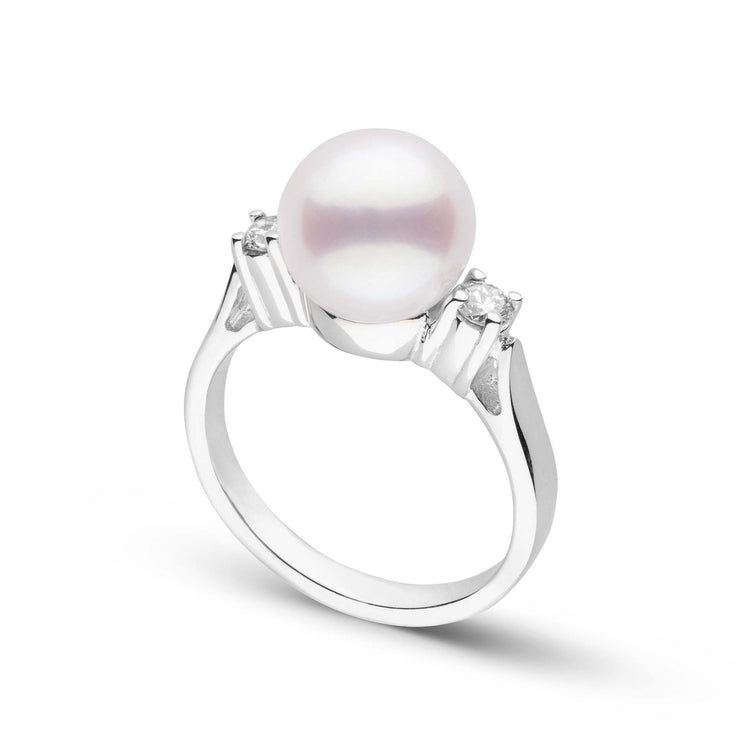 Bella Collection White South Sea Pearl and Diamond Ring