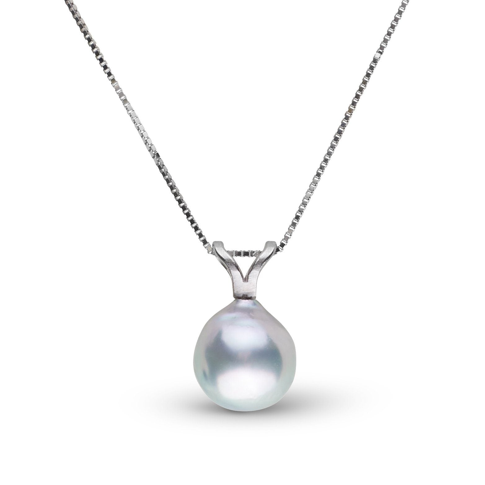 Unity Collection 7.0-8.0 mm Silver Blue Akoya Pearl Pendant