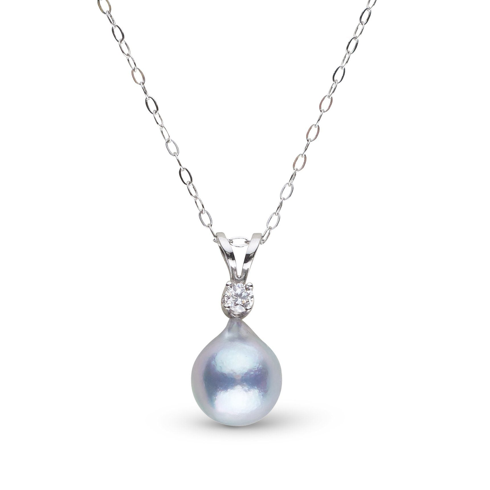 Harmony Collection 7.0-8.0 mm Silver Blue Akoya Pearl Pendant