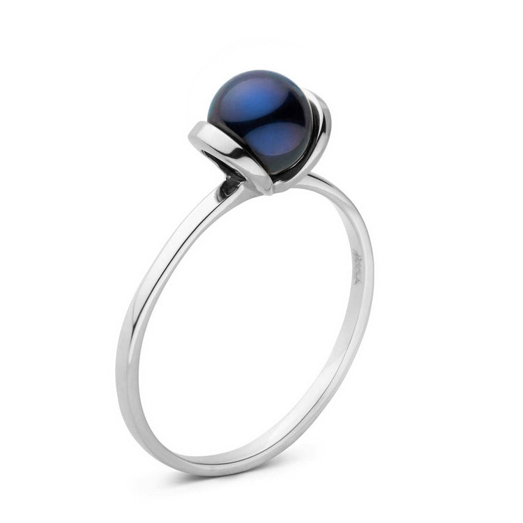 Bonita Collection Black Akoya Pearl Ring