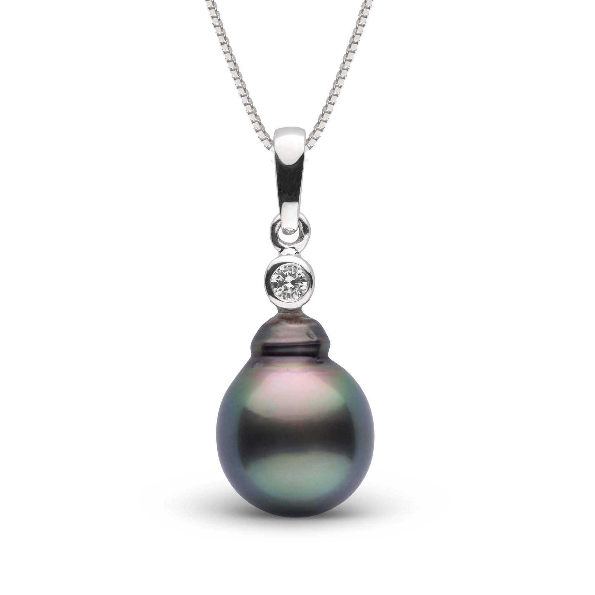 Brilliant Collection 10.0-11.0 mm Tahitian Baroque Pearl and Diamond Pendant