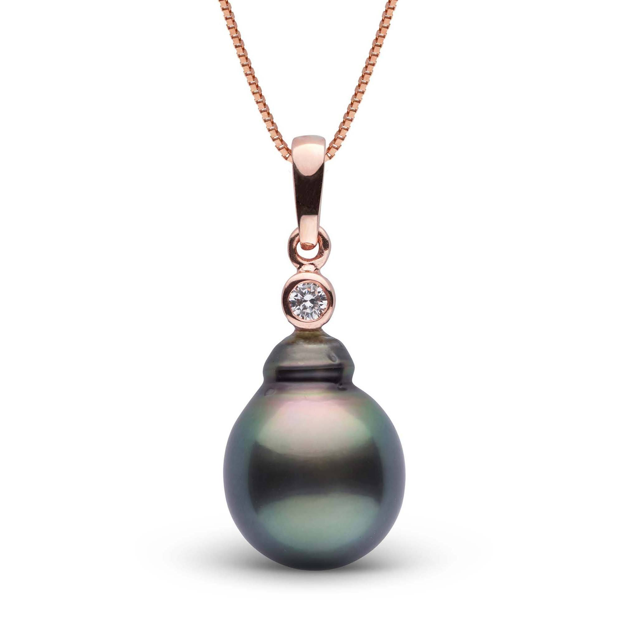 Brilliant Collection 11.0-12.0 mm Tahitian Baroque Pearl and Diamond Pendant