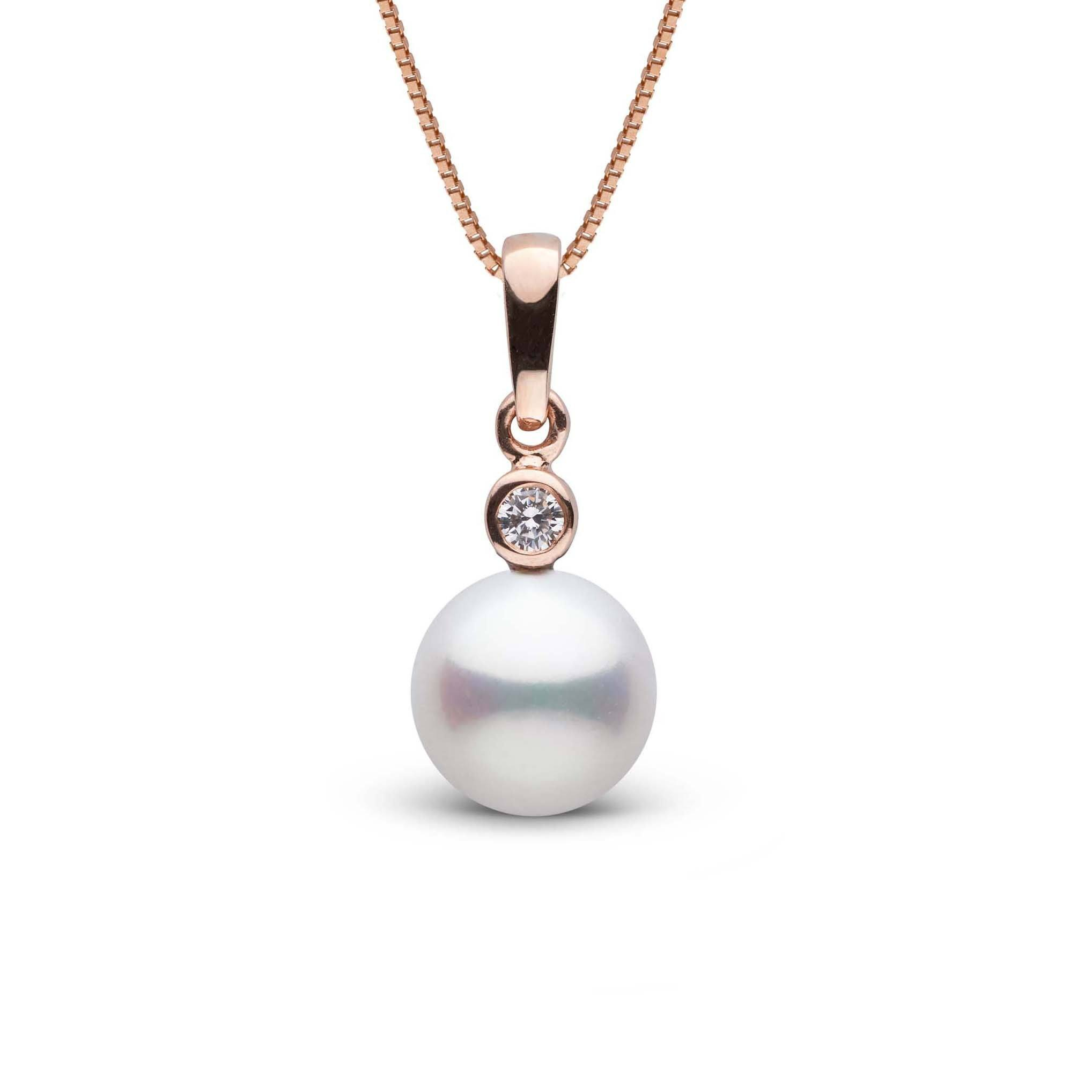 Brilliant Collection 8.0-9.0 mm Freshadama Freshwater Pearl and Diamond Pendant