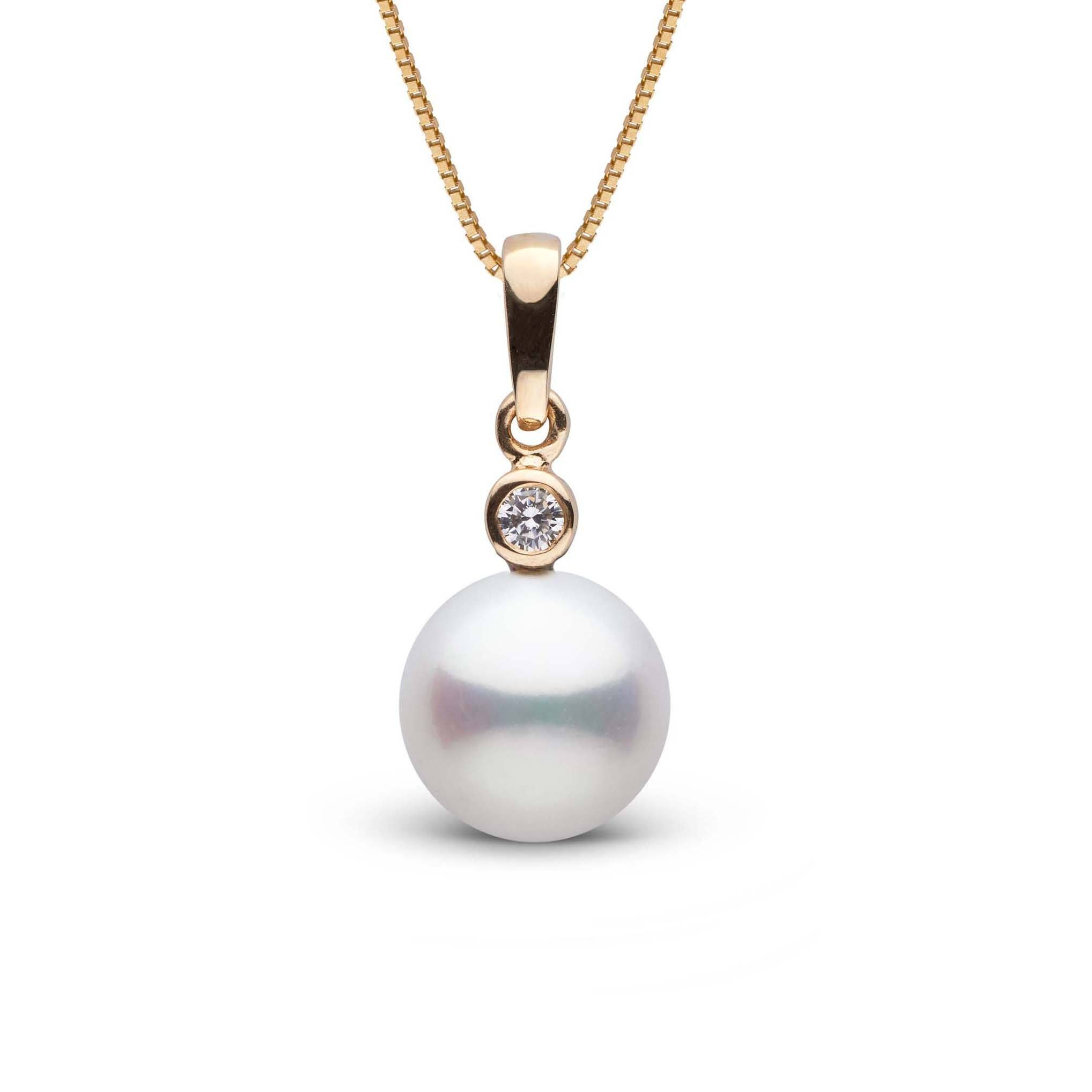 Brilliant Collection 9.0-10.0 mm Freshadama Freshwater Pearl and Diamond Pendant