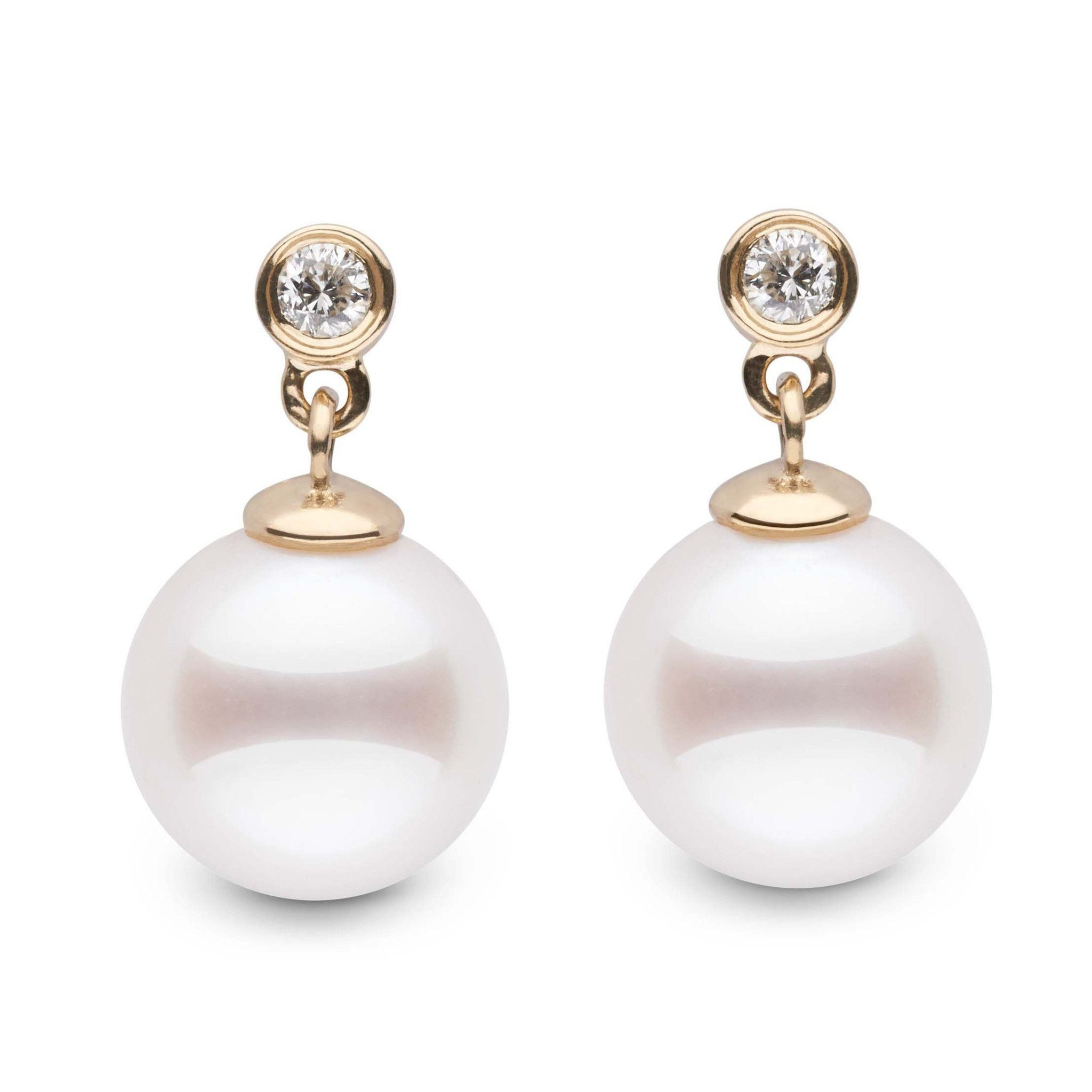 Brilliant Collection Akoya 8.5-9.0 mm Pearl & Diamond Earrings