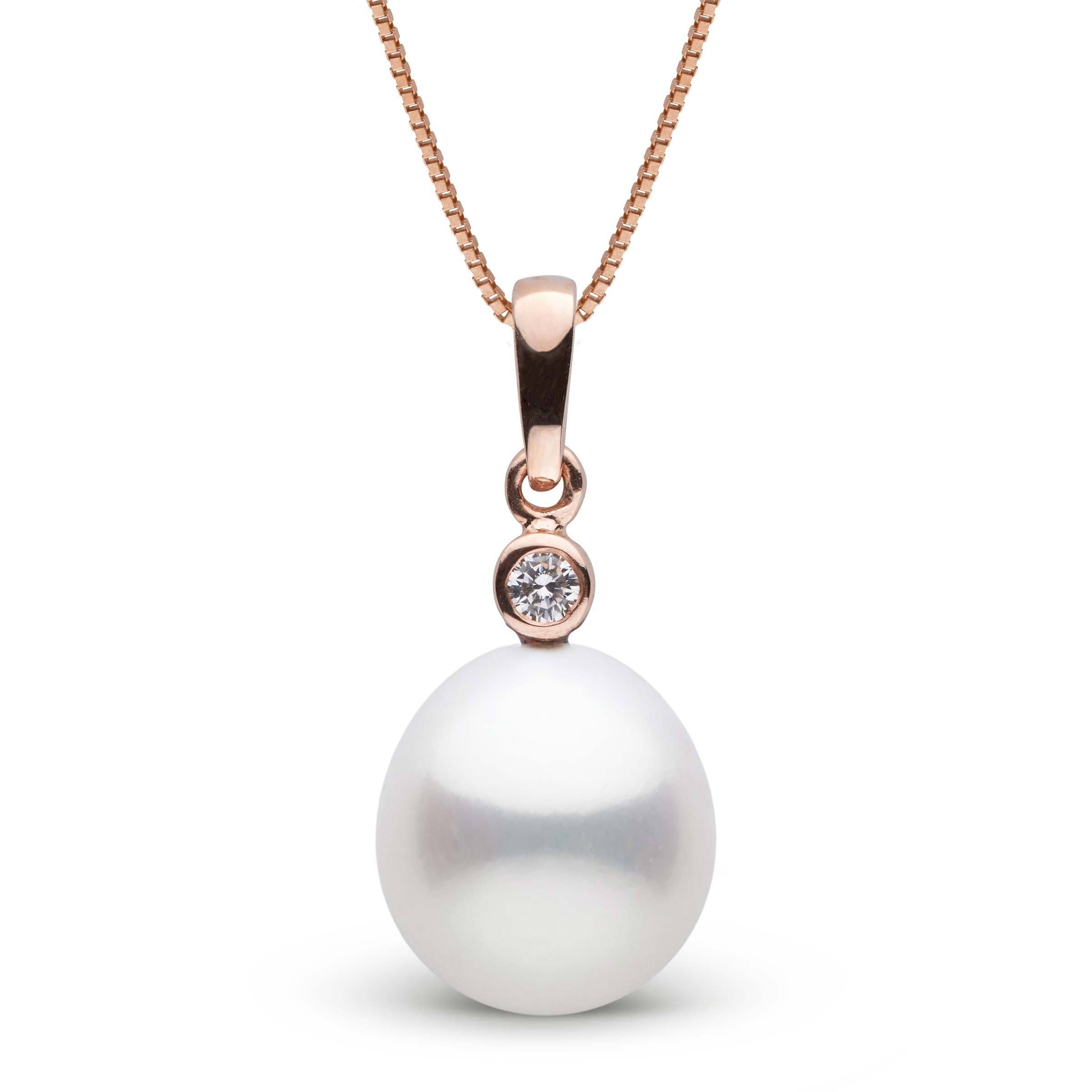 Brilliant Collection Drop White 11.0-12.0 mm South Sea Pearl and Diamond Pendant