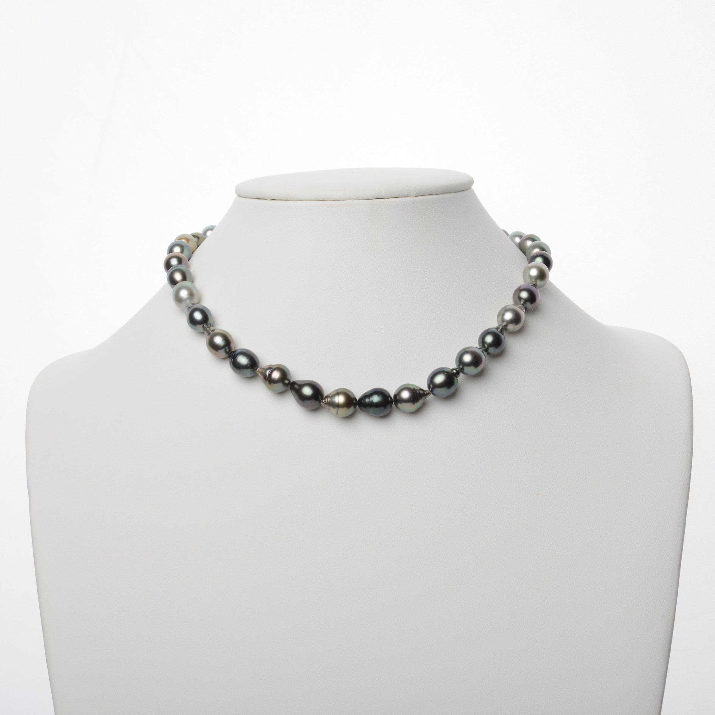 7.9-10.4 mm AAA Tahitian Baroque Pearl Necklace