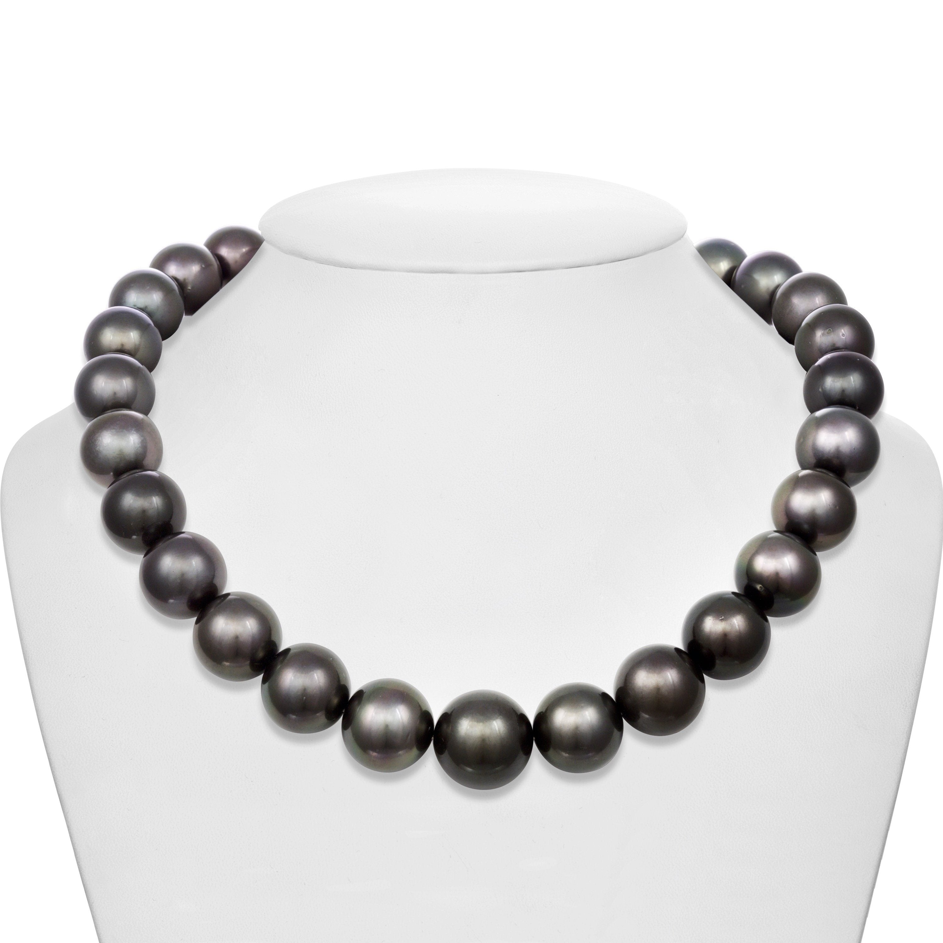 15.0-17.9 mm AA+/AAA Tahitian Round Pearl Necklace