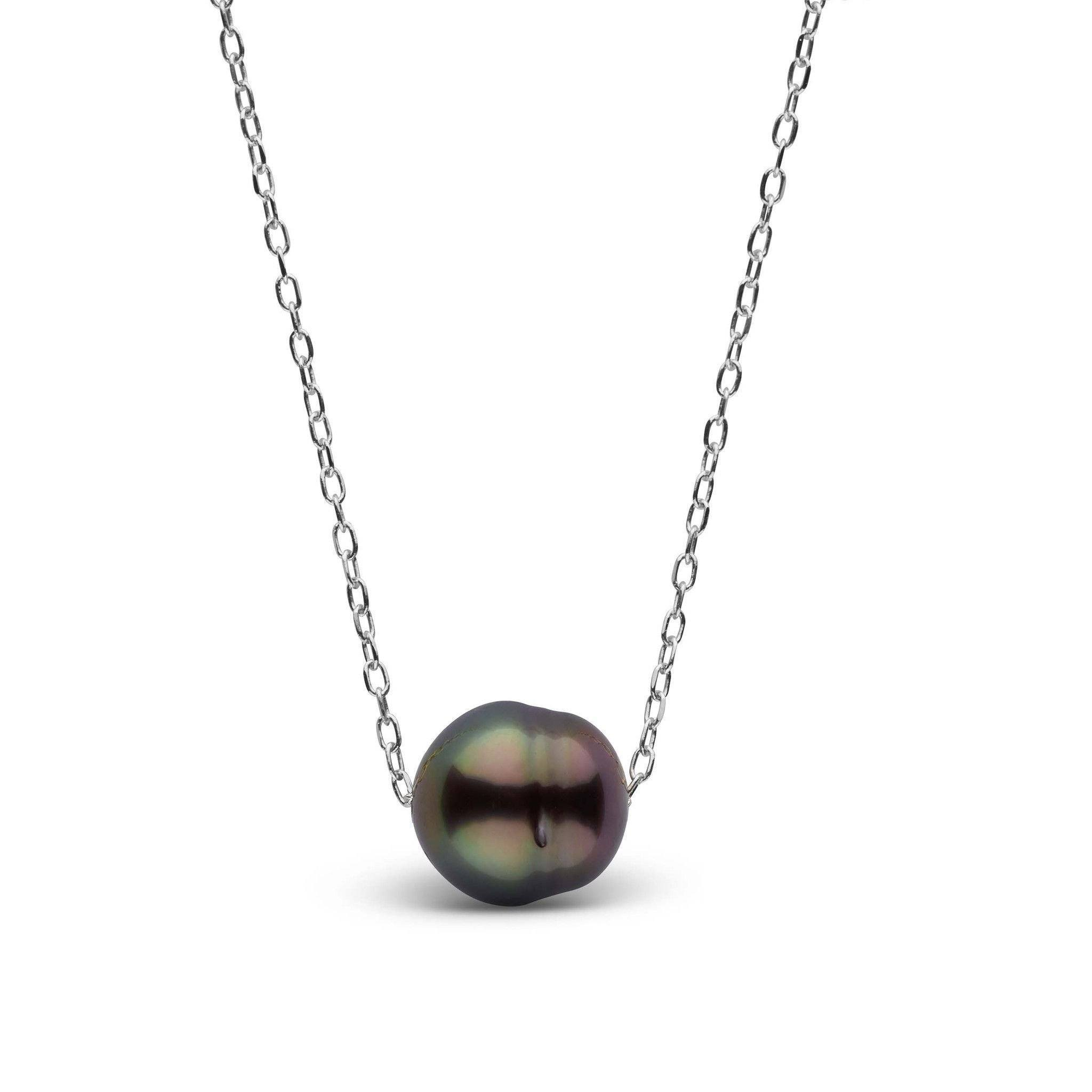 18 Inch Cherish Collection 9.0-10.0 mm AAA Tahitian Baroque Pearl Necklace