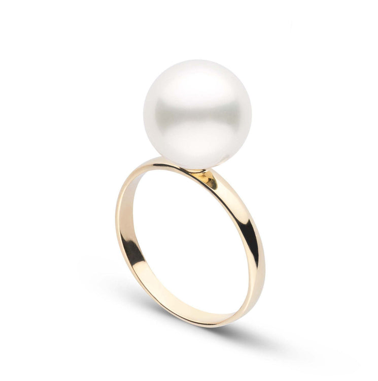 Classic Collection 10.0-11.0 mm White South Sea Pearl Ring