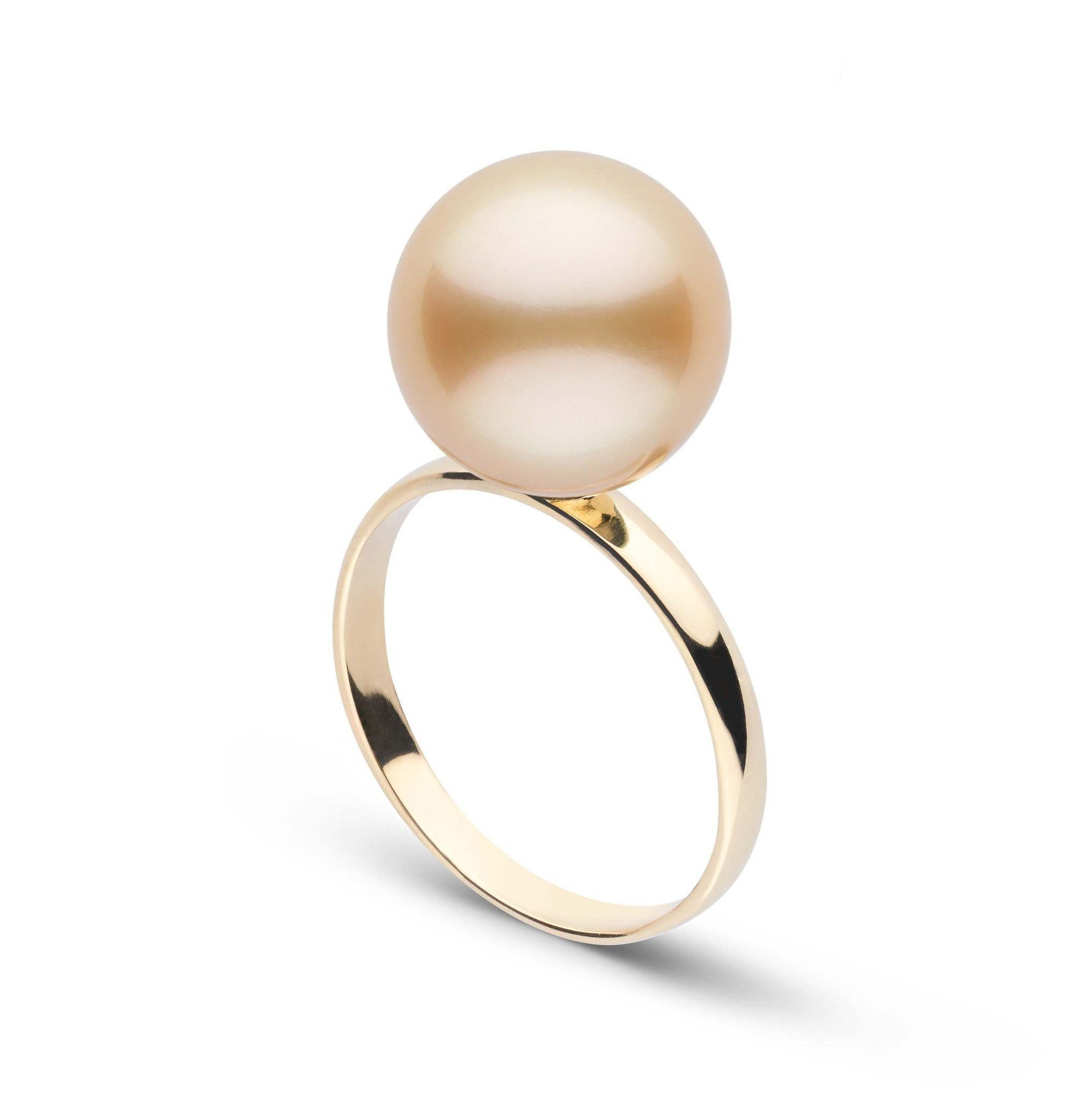 Classic Collection 11.0-12.0 mm Golden South Sea Pearl Ring