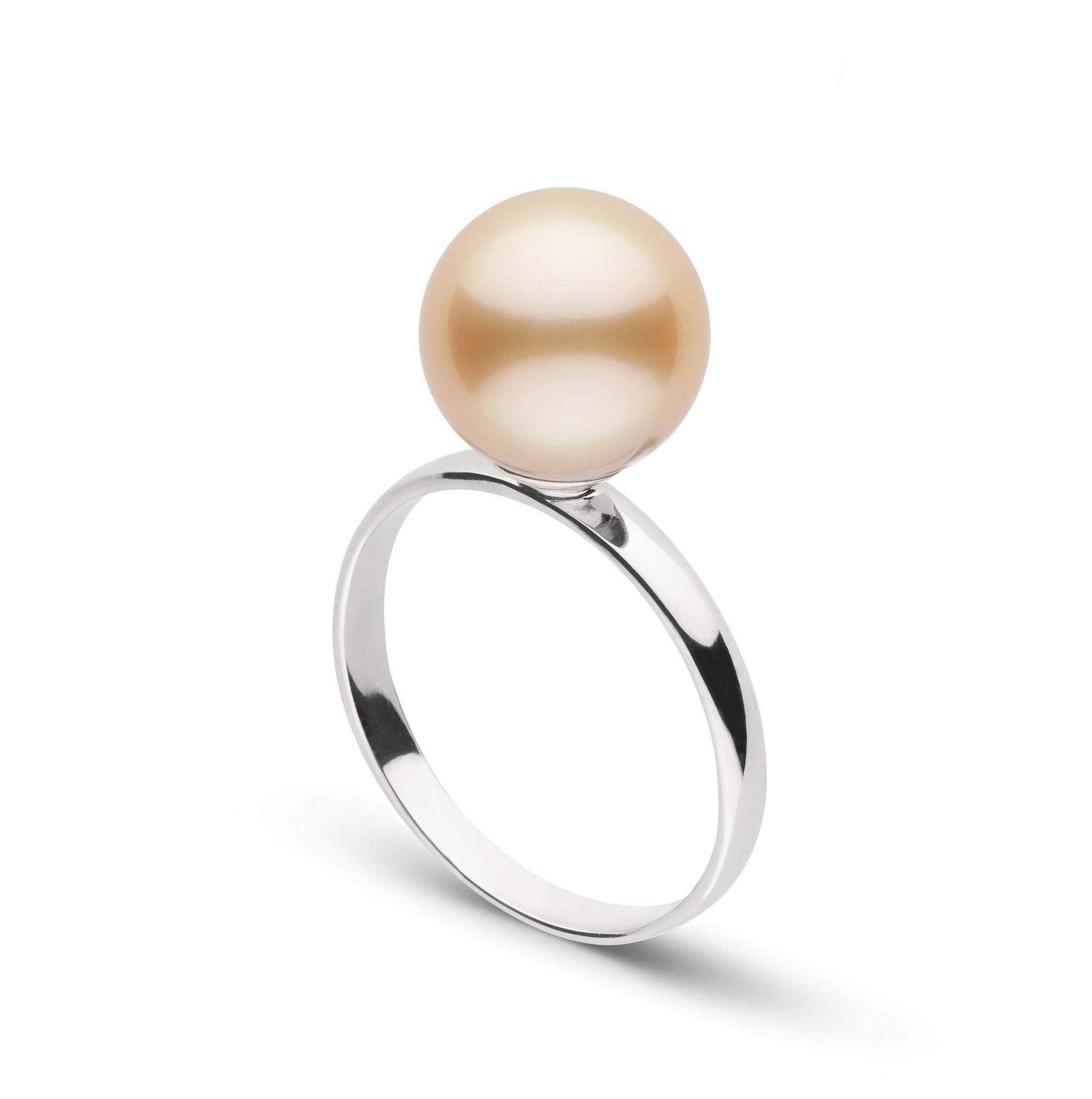 Classic Collection 9.0-10.0 mm Golden South Sea Pearl Ring