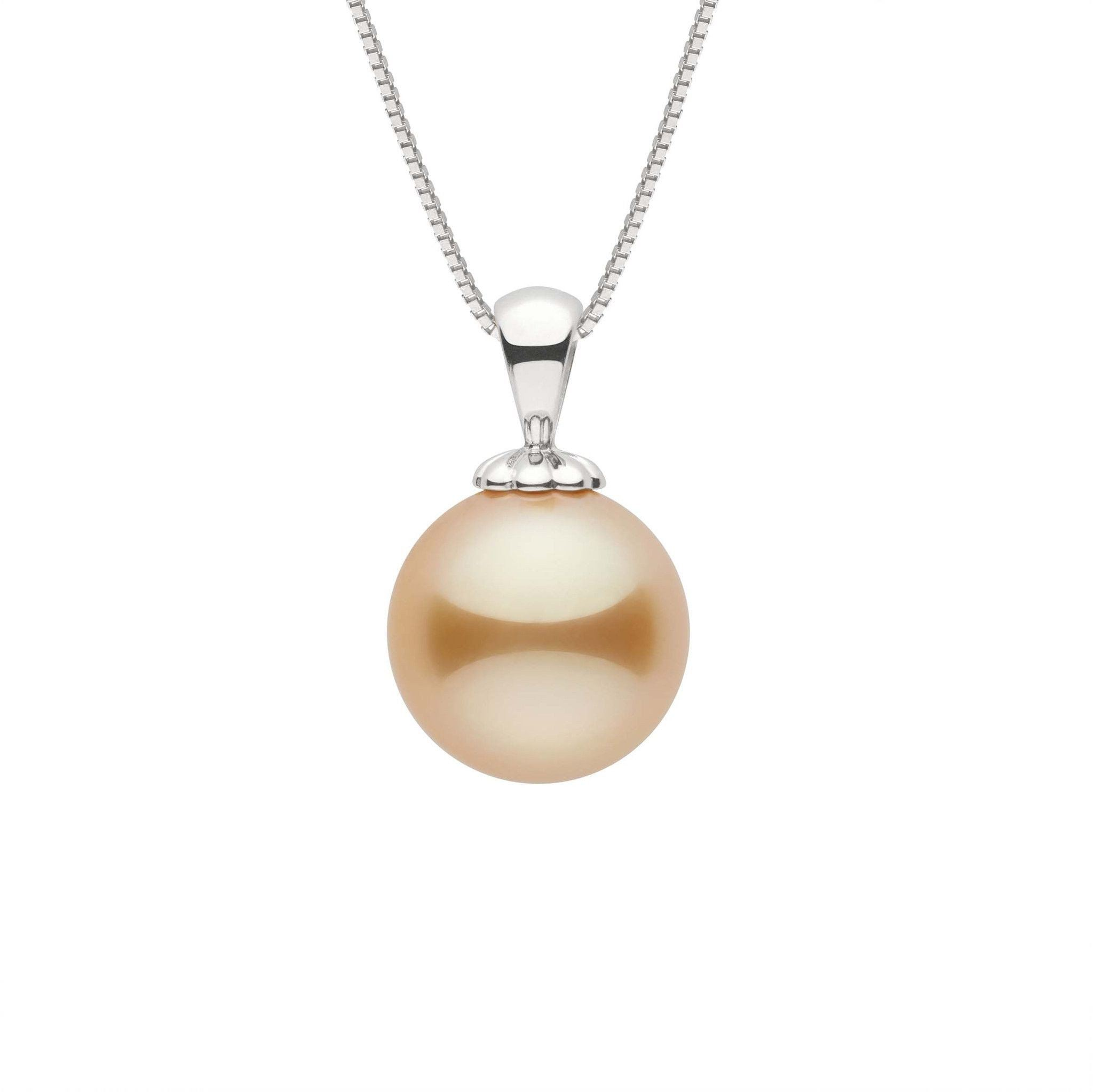 Classic Collection Golden 10.0-11.0 mm South Sea Pearl Pendant
