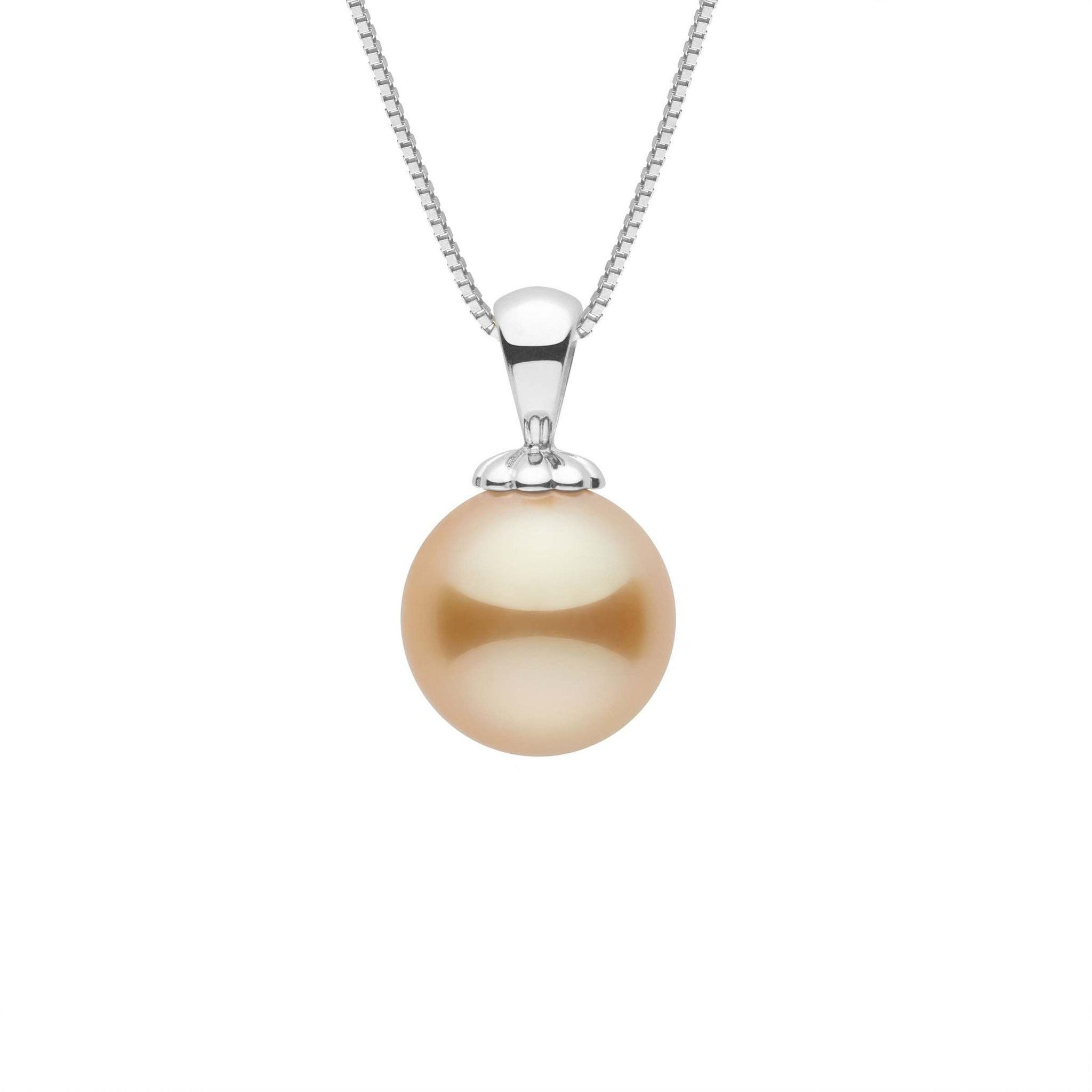 Classic Collection Golden 9.0-10.0 mm South Sea Pearl Pendant