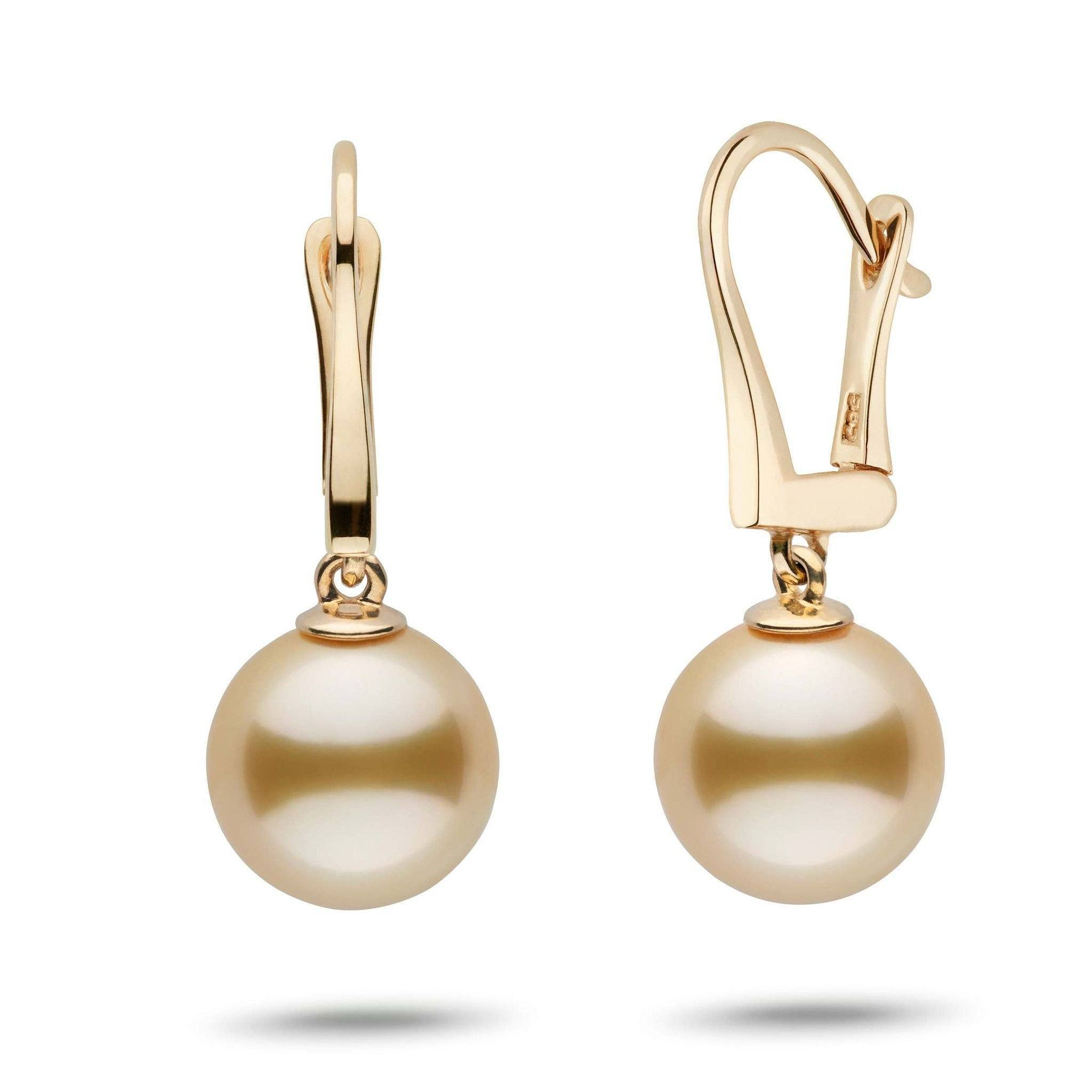 Classic Collection Golden South Sea 10.0-11.0 mm Pearl Dangle Earrings