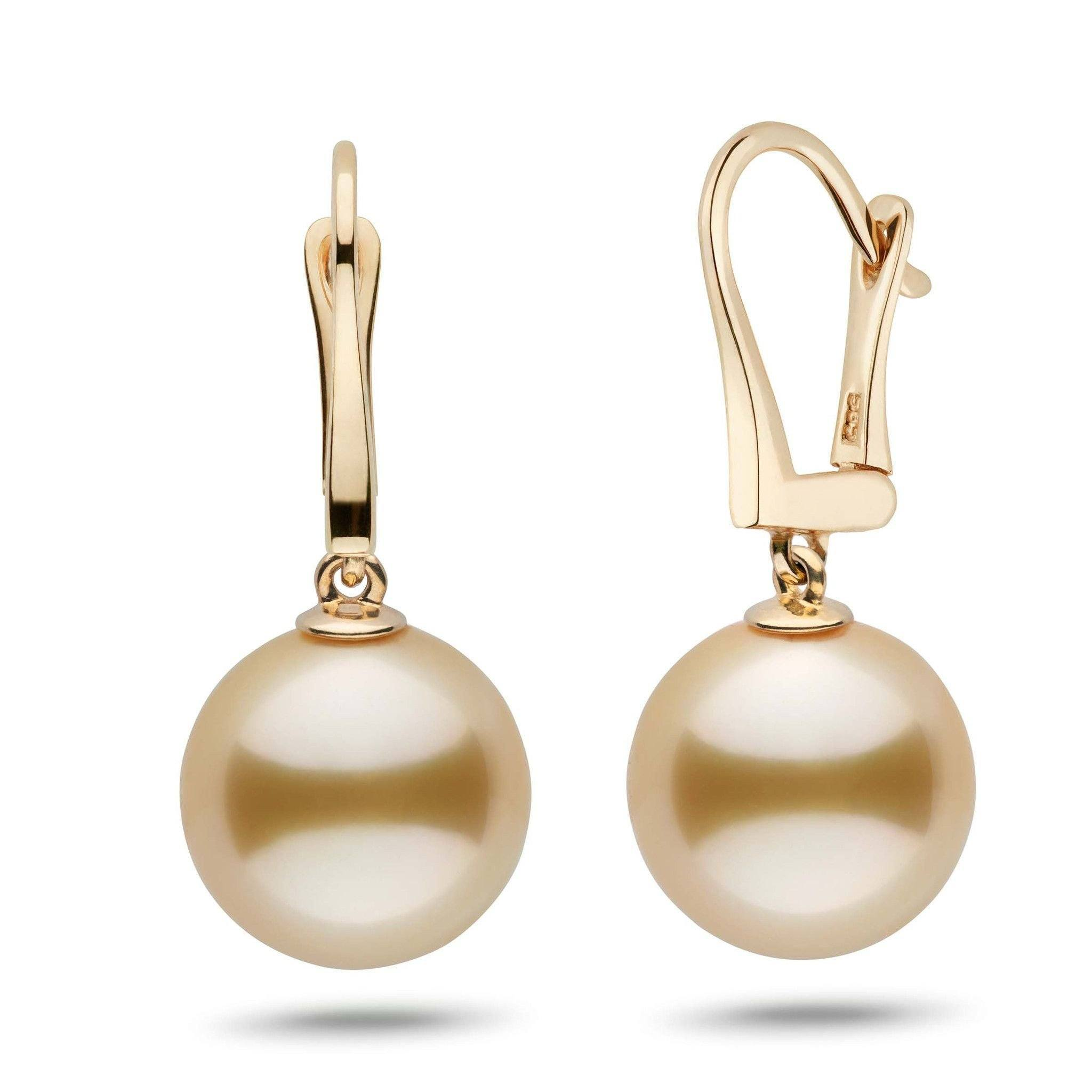 Classic Collection Golden South Sea 12.0-13.0 mm Pearl Dangle Earrings