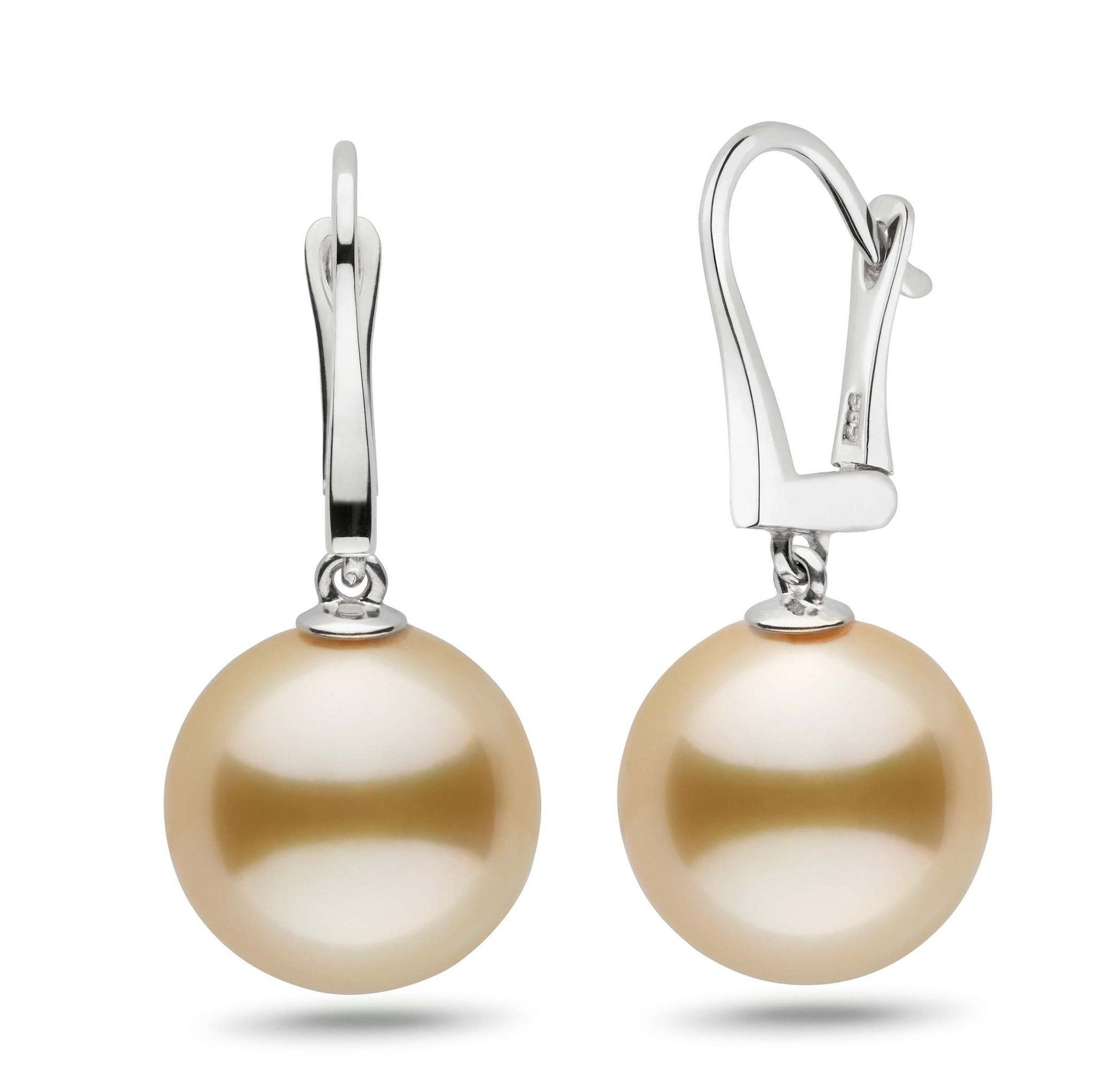 Classic Collection Golden South Sea 13.0-14.0 mm Pearl Dangle Earrings