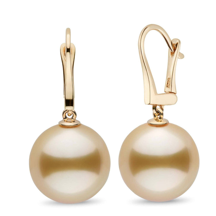 Classic Collection Golden South Sea 14.0-15.0 mm Pearl Dangle Earrings