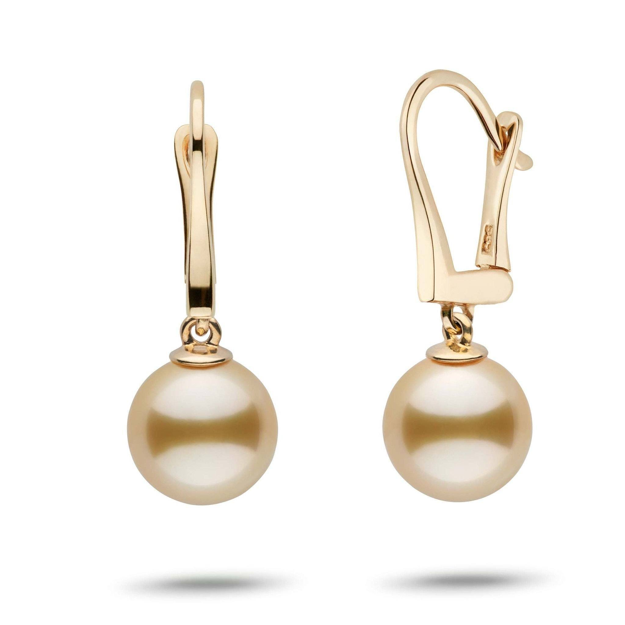 Classic Collection Golden South Sea 9.0-10.0 mm Pearl Dangle Earrings