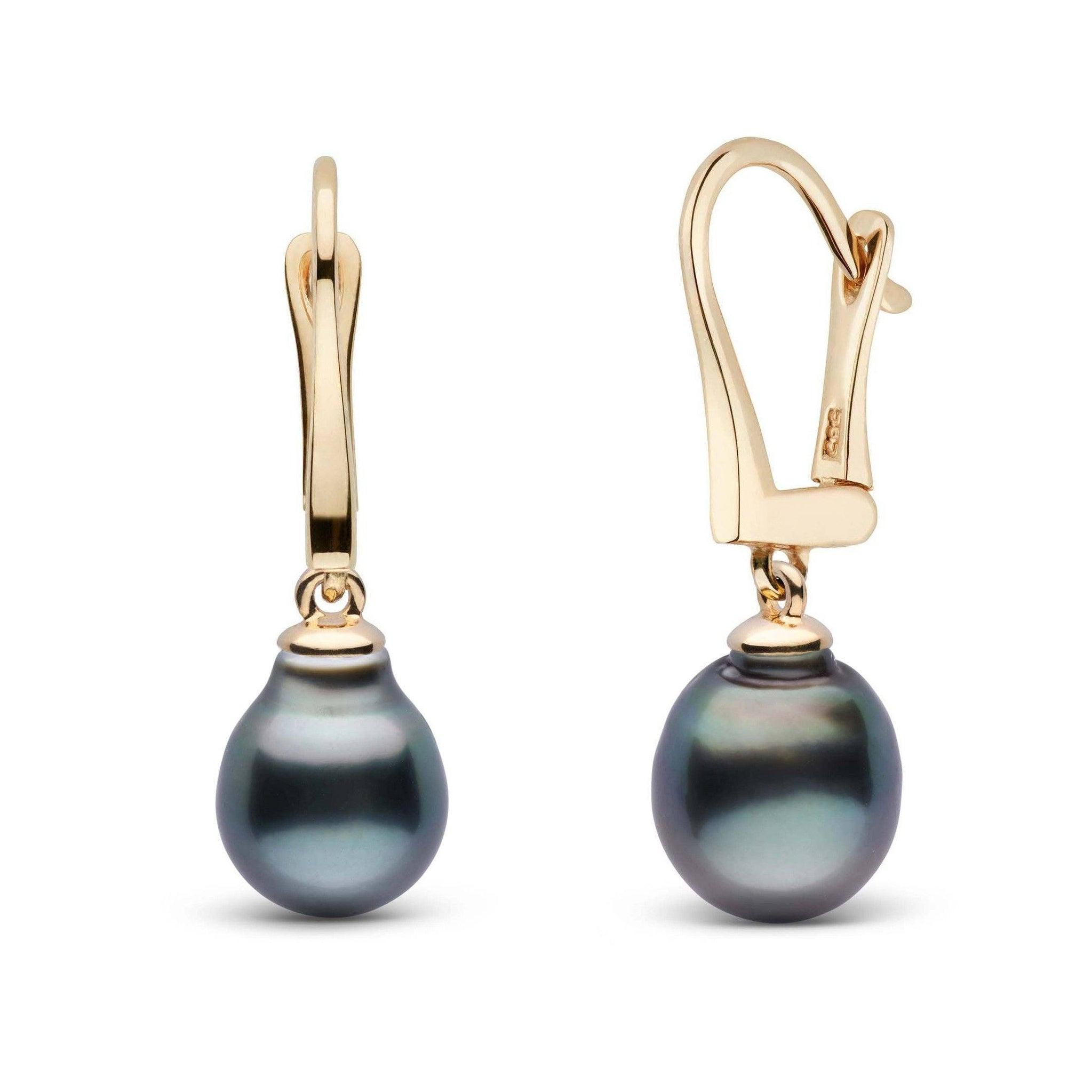 Classic Collection Tahitian Baroque 8.0-9.0 mm Pearl Dangle Earrings