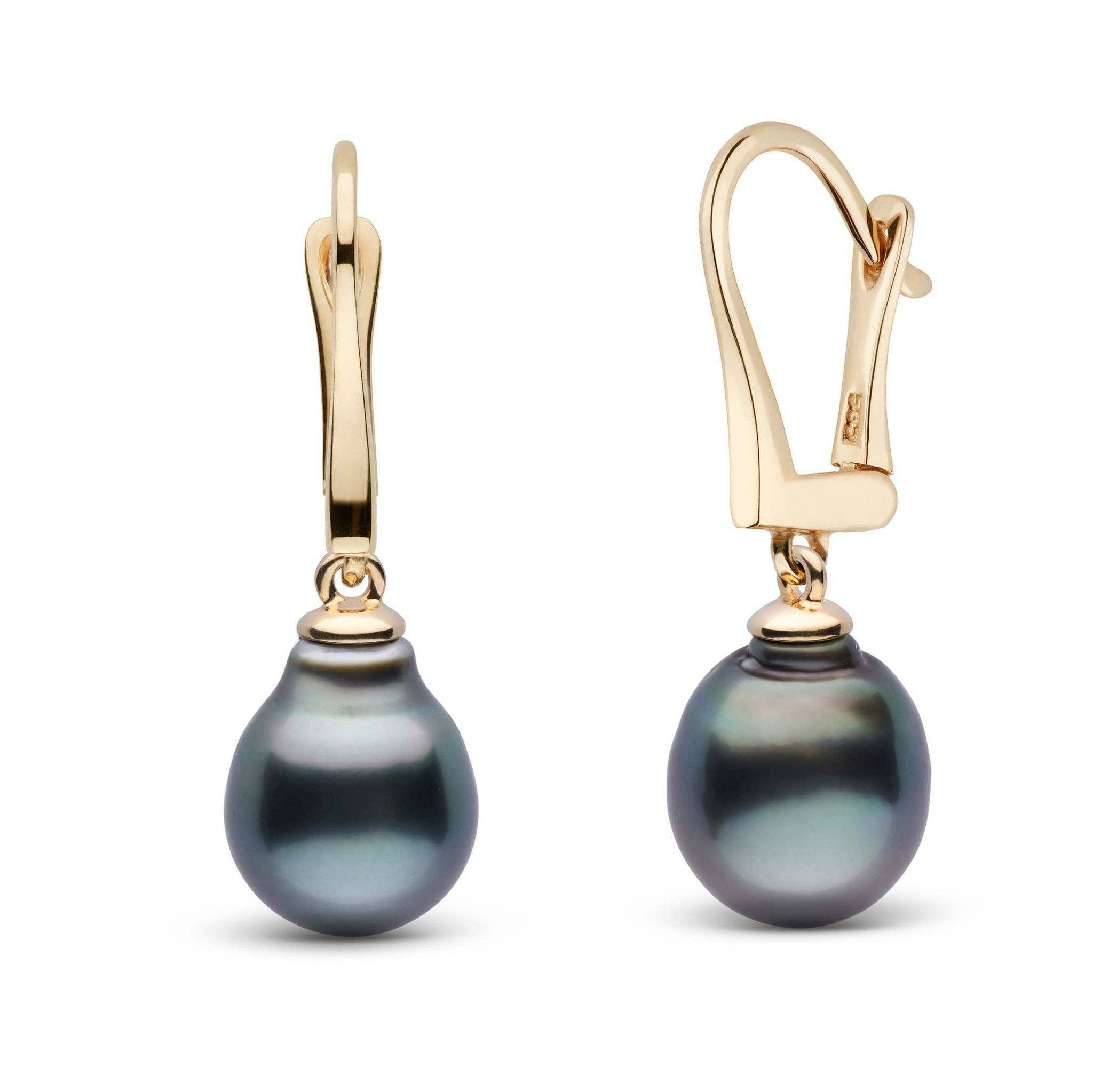 Classic Collection Tahitian Baroque 9.0-10.0 mm Pearl Dangle Earrings