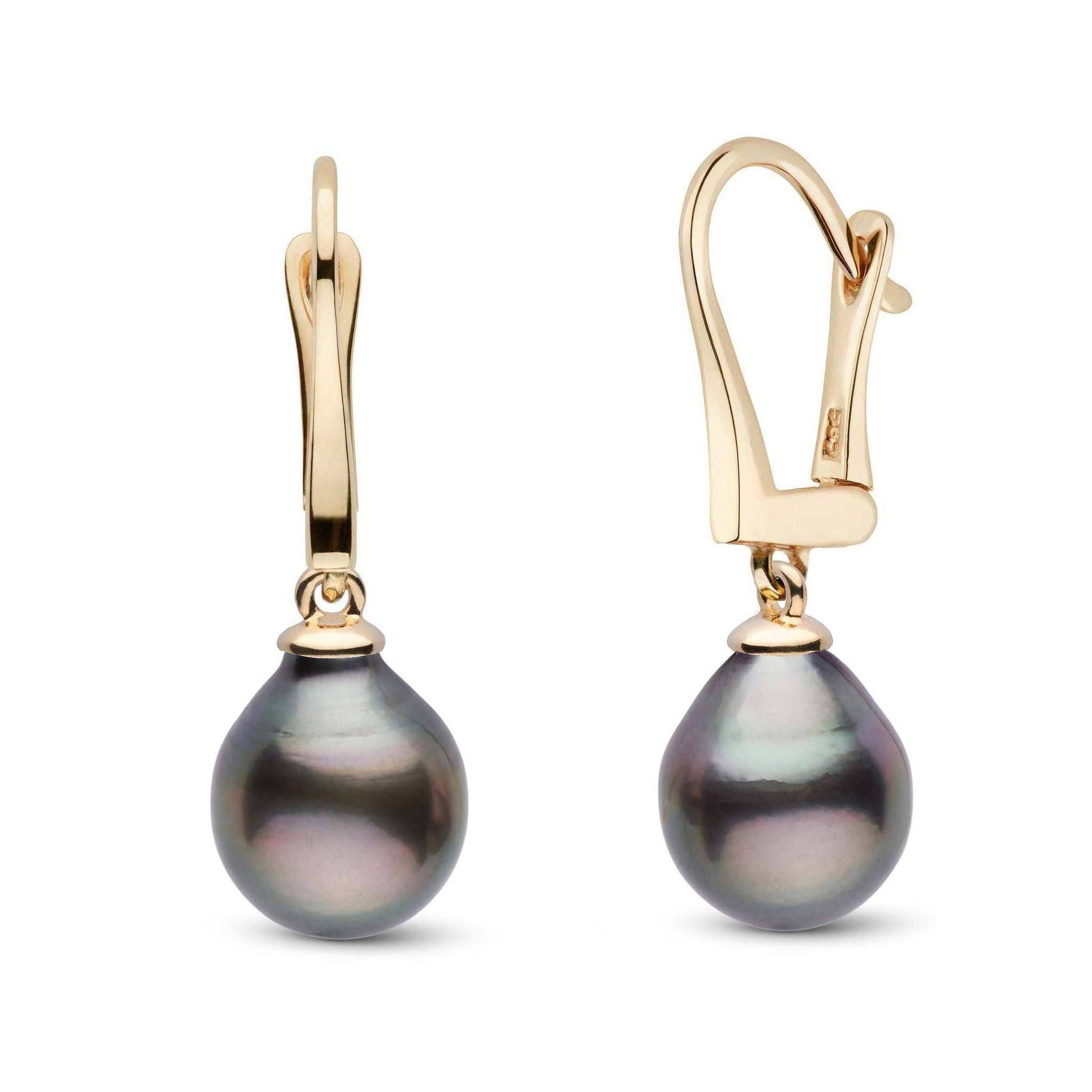 Classic Collection Tahitian Drop 8.0-9.0 mm Pearl Dangle Earrings