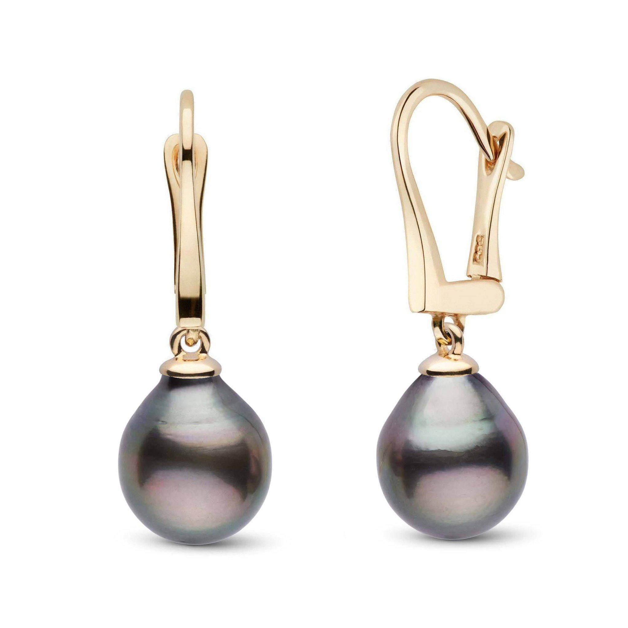 Classic Collection Tahitian Drop 9.0-10.0 mm Pearl Dangle Earrings