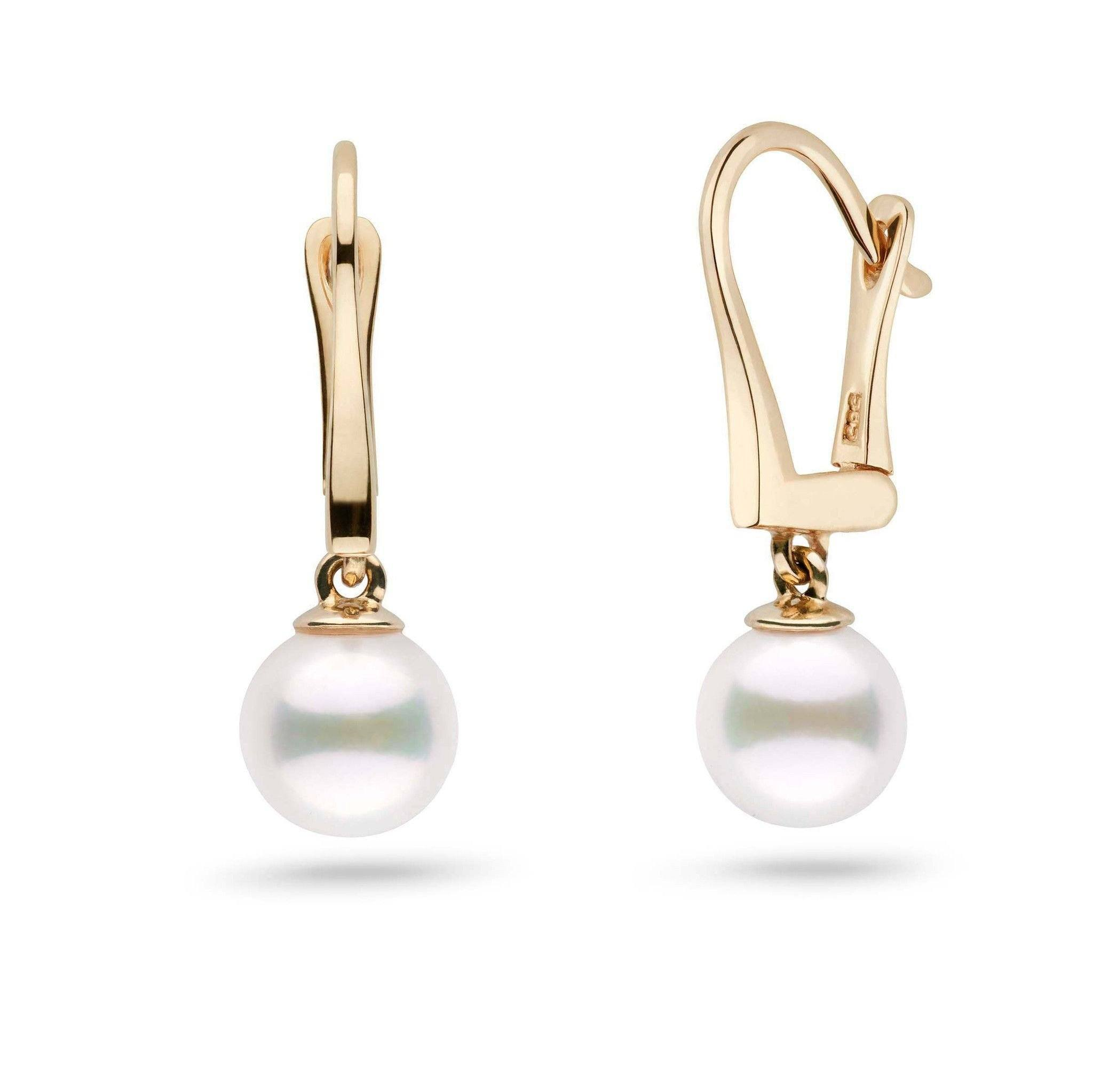 Classic Collection White Freshadama Freshwater 7.5-8.0 mm Pearl Dangle Earrings