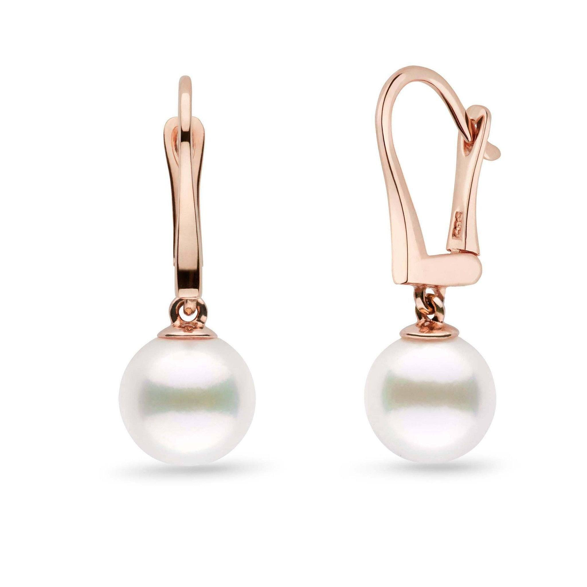 Classic Collection White Freshadama Freshwater 9.0-10.0 mm Pearl Dangle Earrings