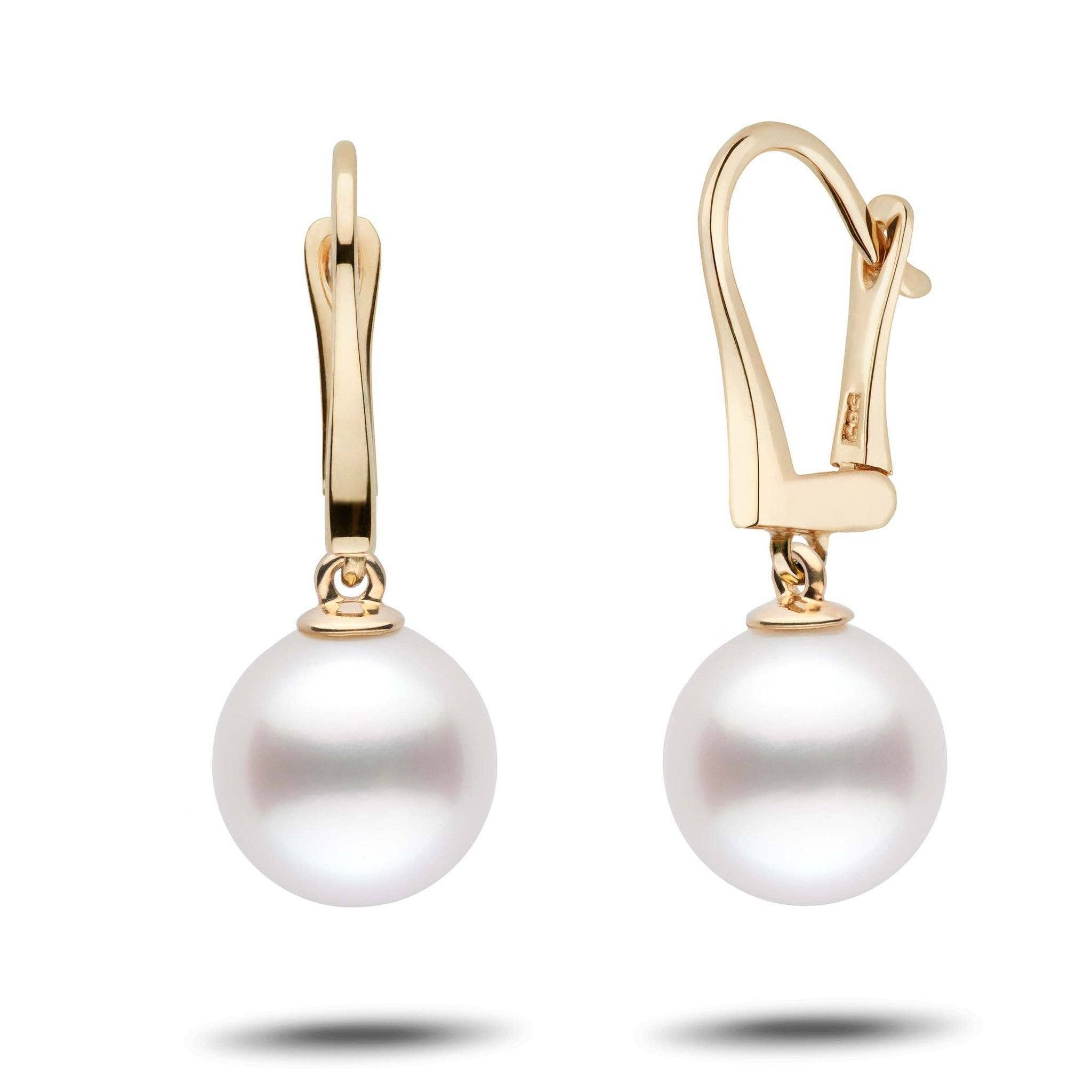 Classic Collection White South Sea 10.0-11.0 mm Pearl Dangle Earrings